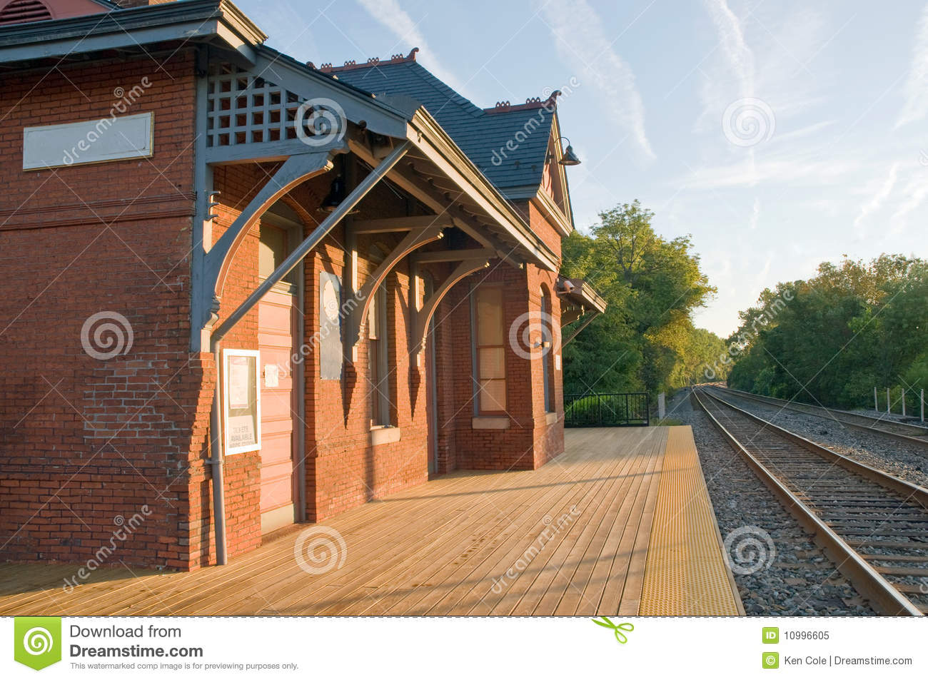 Old Train Station Stock Image Of Antique Railroad