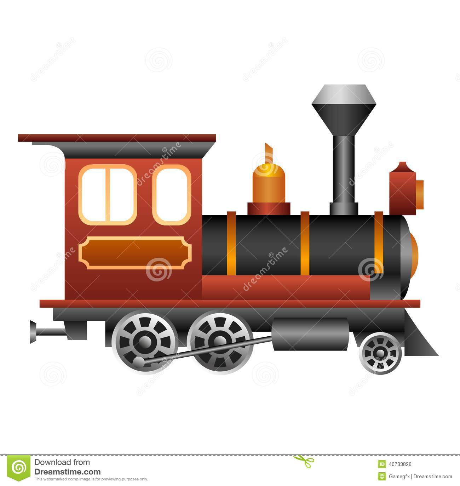 Old Fashioned Train Cartoon
