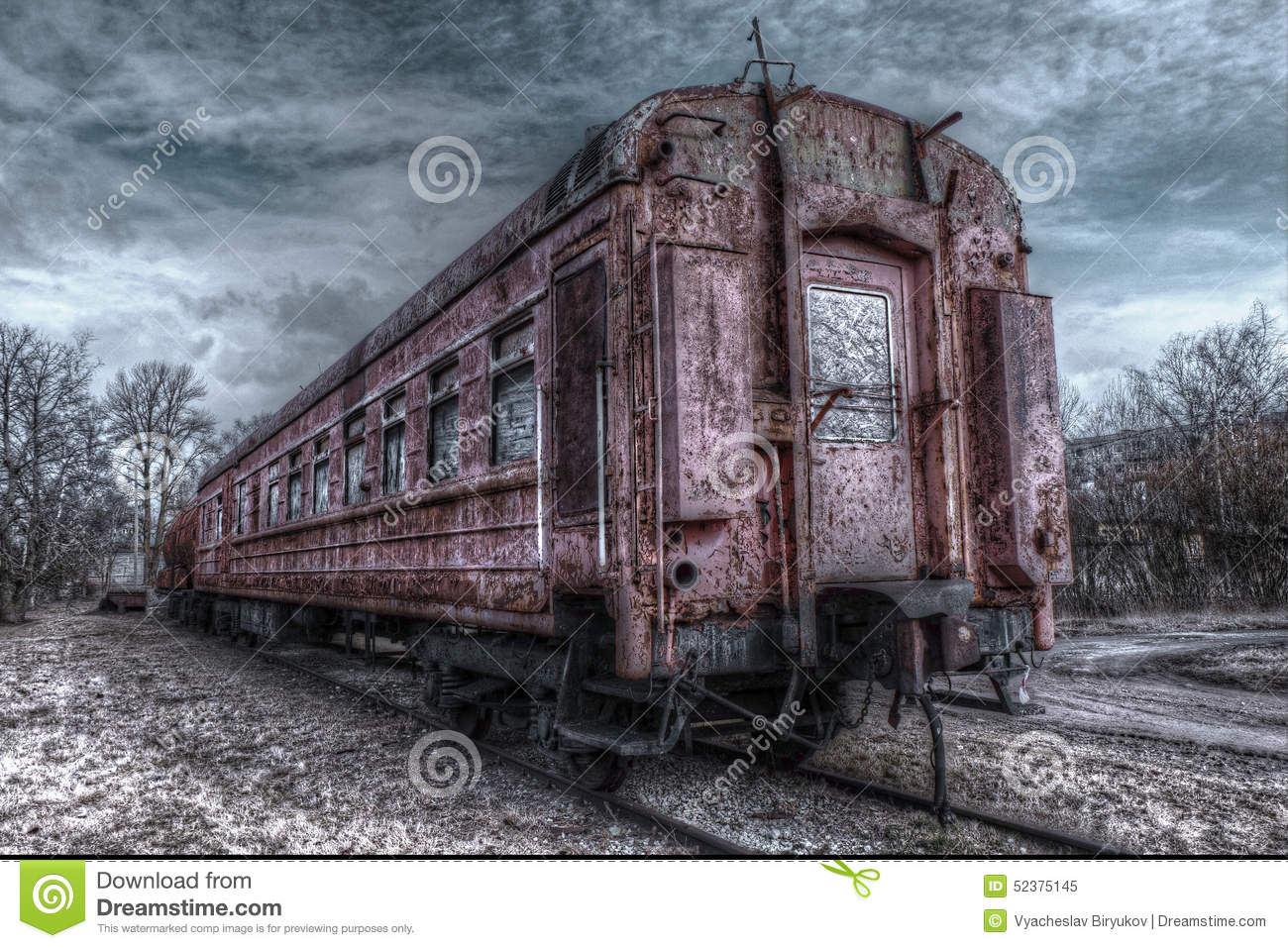 Old Train Wagon Stock Photo - Image: 52375145