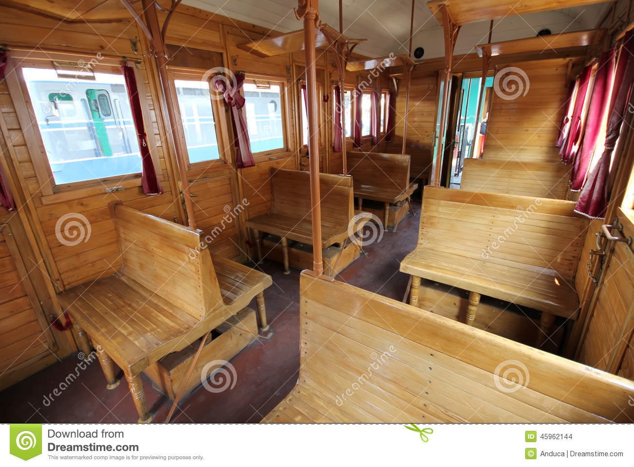 old train wagon interior stock photo image of travelling 45962144. Black Bedroom Furniture Sets. Home Design Ideas