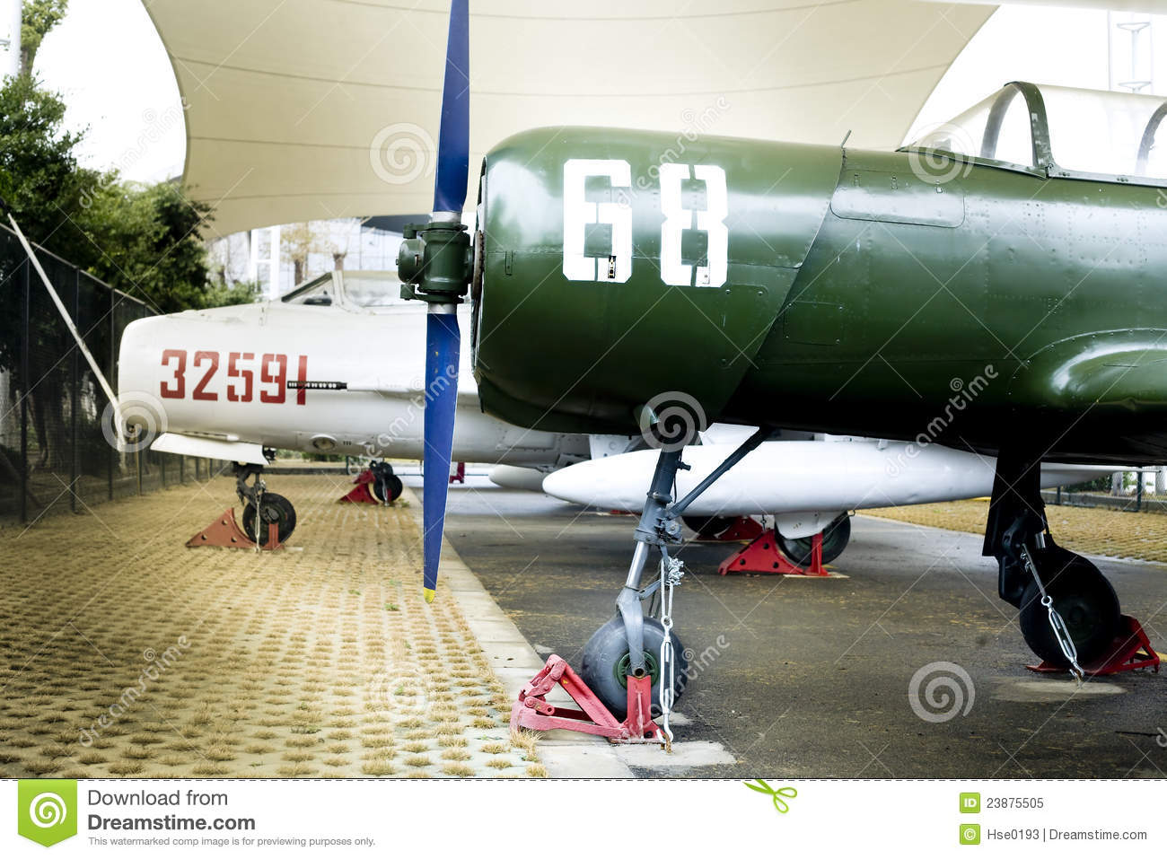 Old trainer aircraft