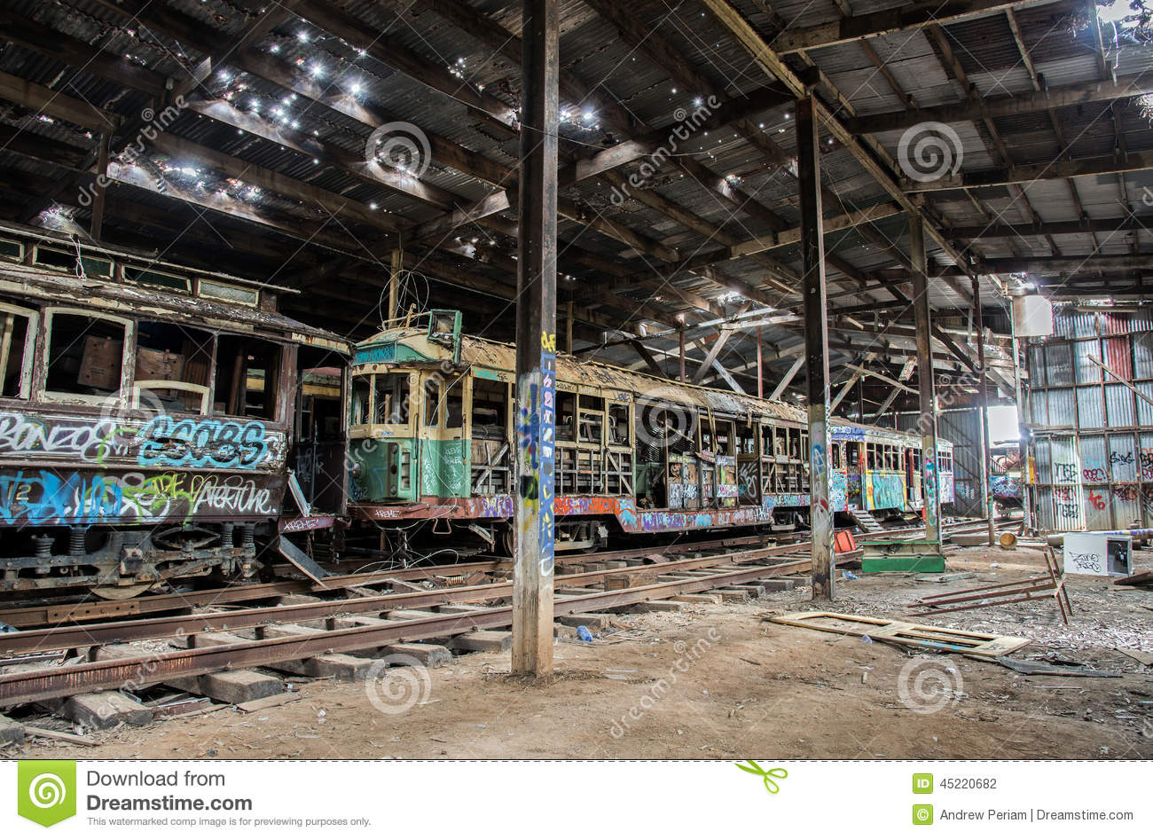 Old Tram Shed Editorial Photography Image Of Wreck Shed