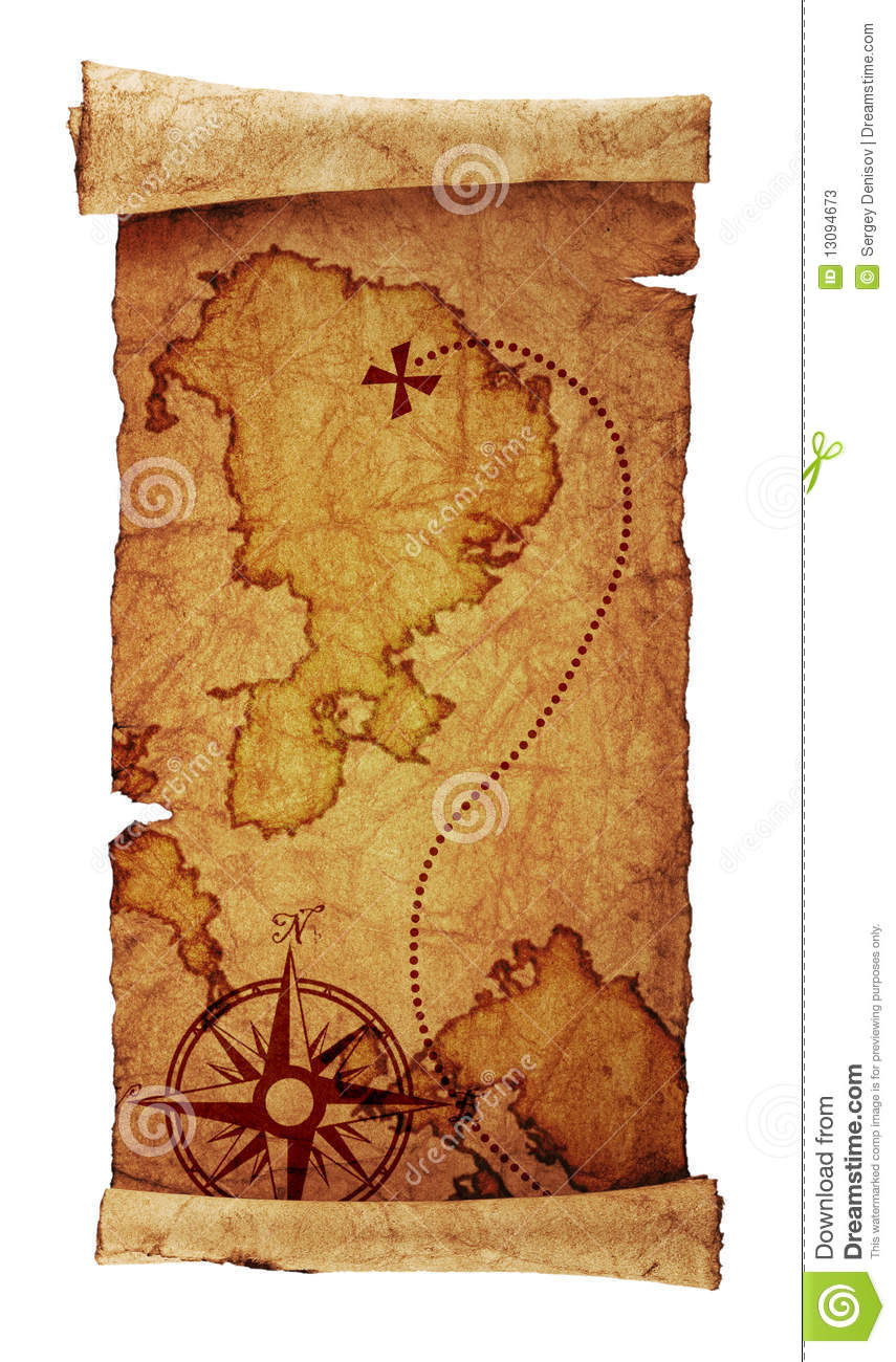Old Treasure Map Stock Illustration Of Antique