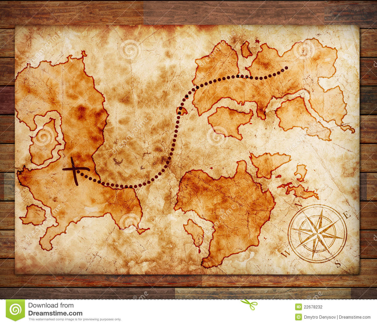 old treasure map stock photography image