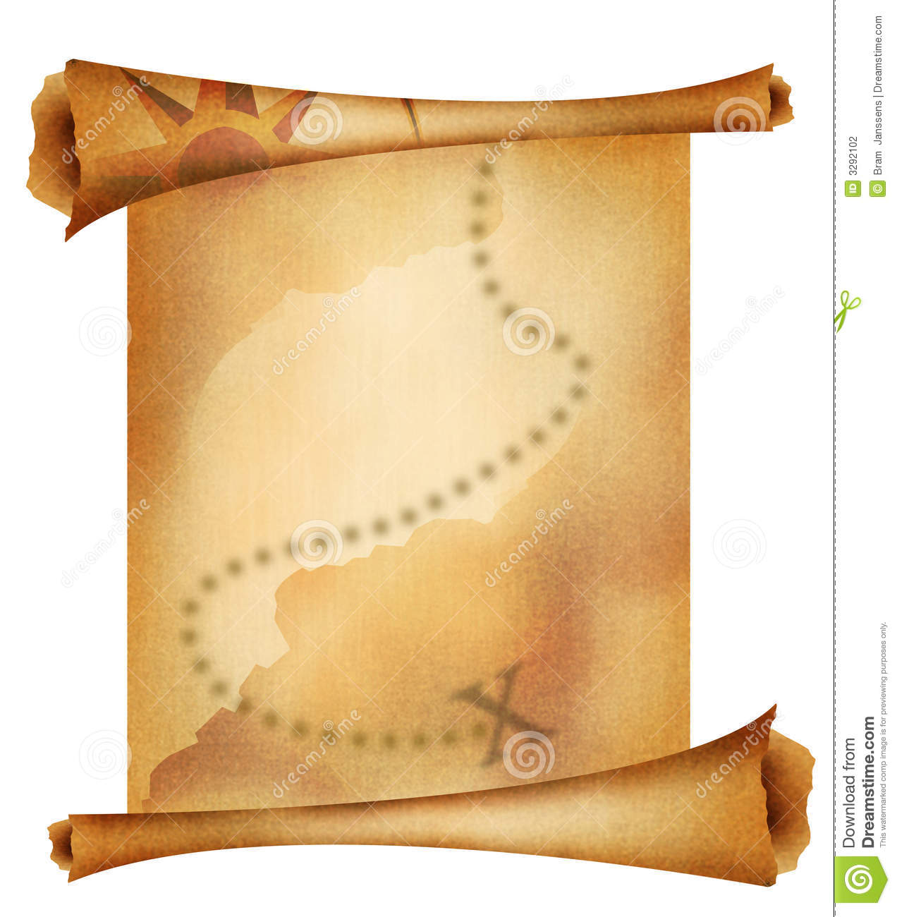 Old Treasure Map Stock Photography - Image: 3292102
