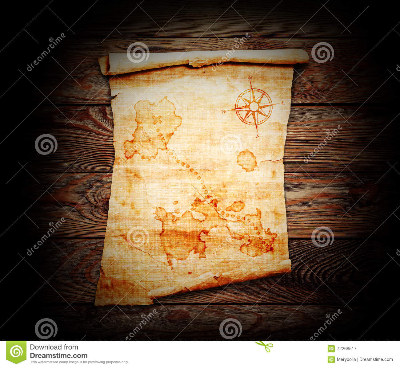Download Old Treasure Map Stock Image Of Scroll Navigation