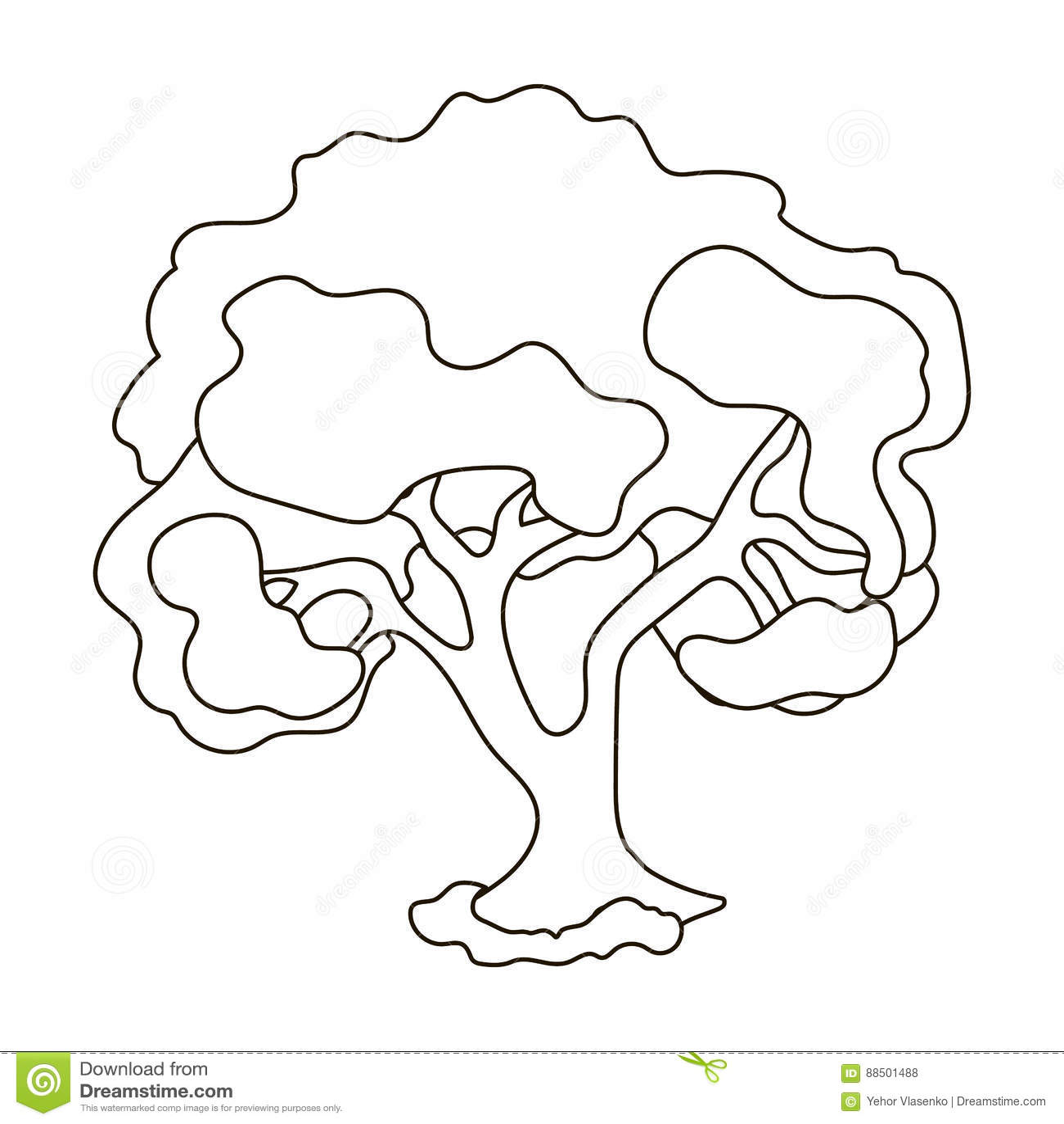 tree icon  illustration royalty