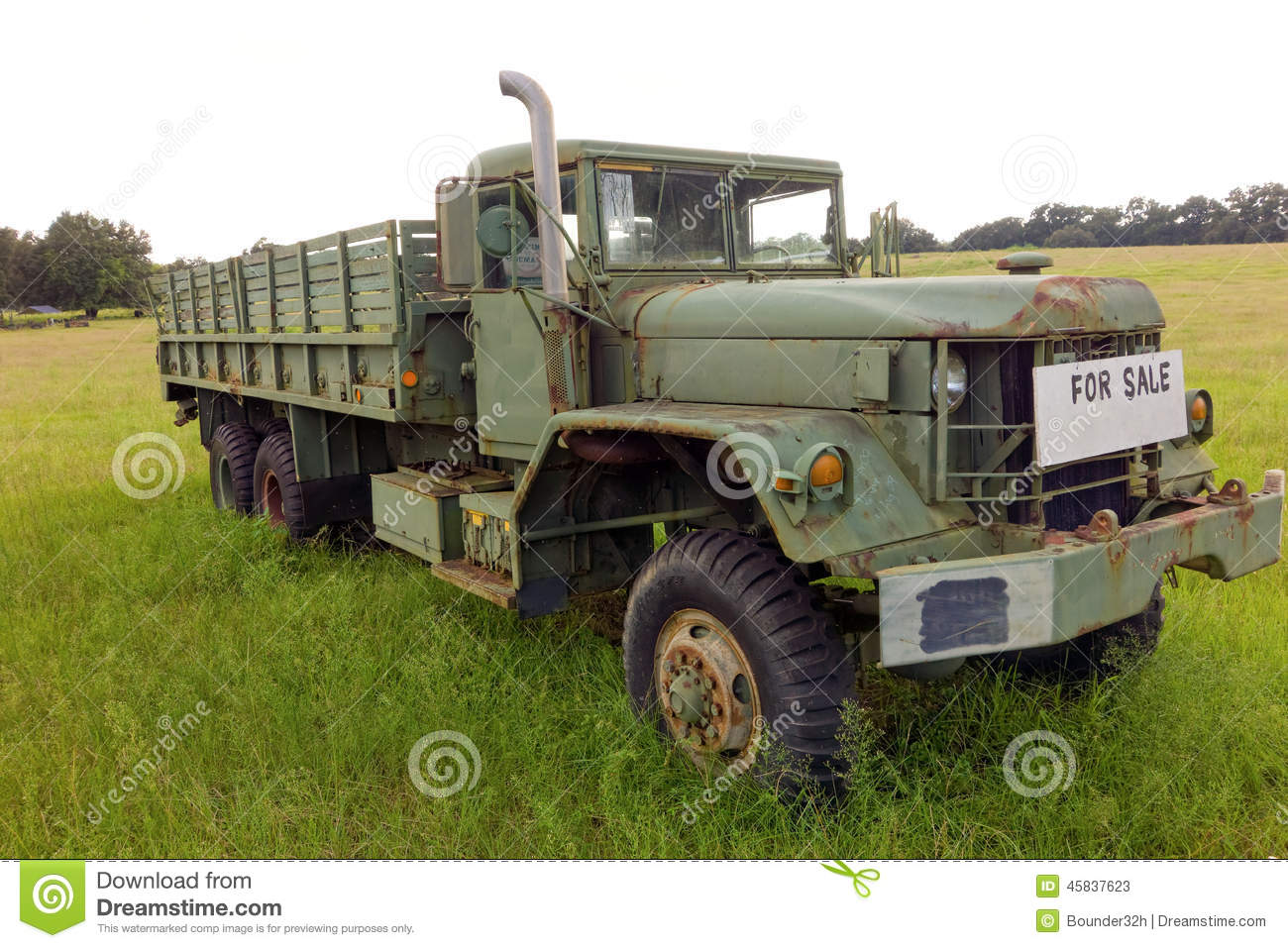 An Old Truck For Sale In Georga Editorial Stock Photo - Image of ...
