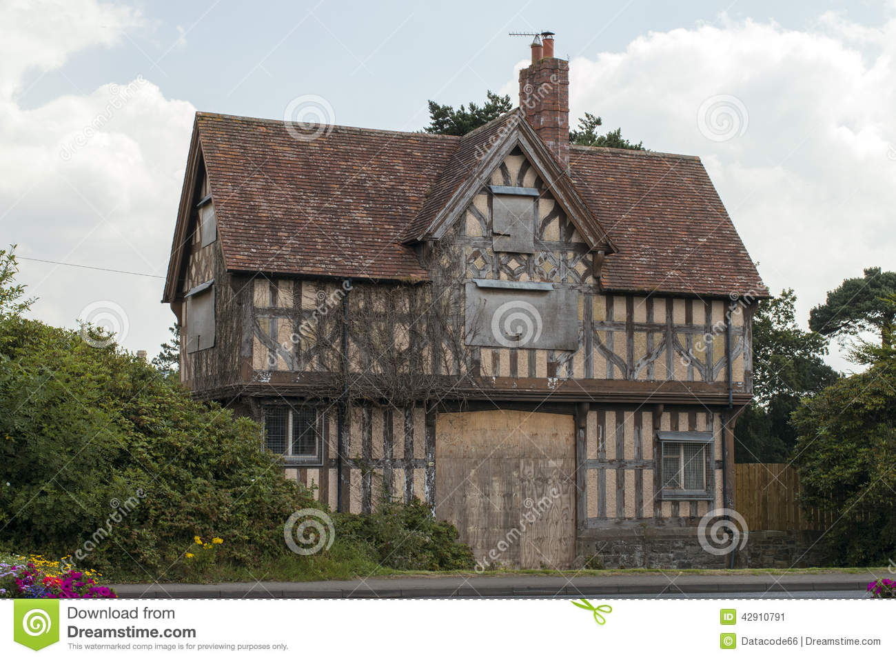 Floor Plans For Cottages Old Tudor House Stock Photo Image 42910791