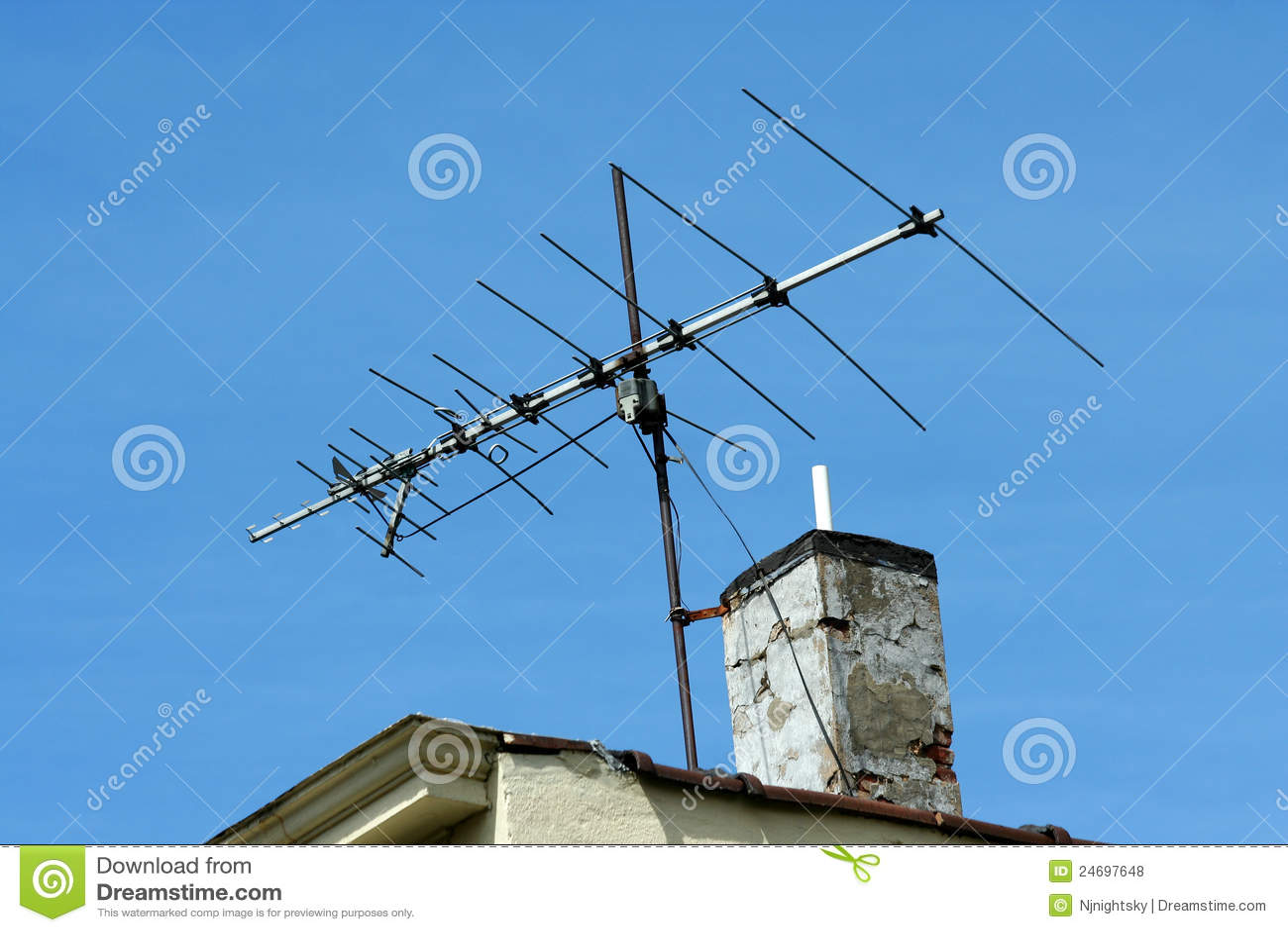 Old Tv Antenna Royalty Free Stock Photos Image 24697648