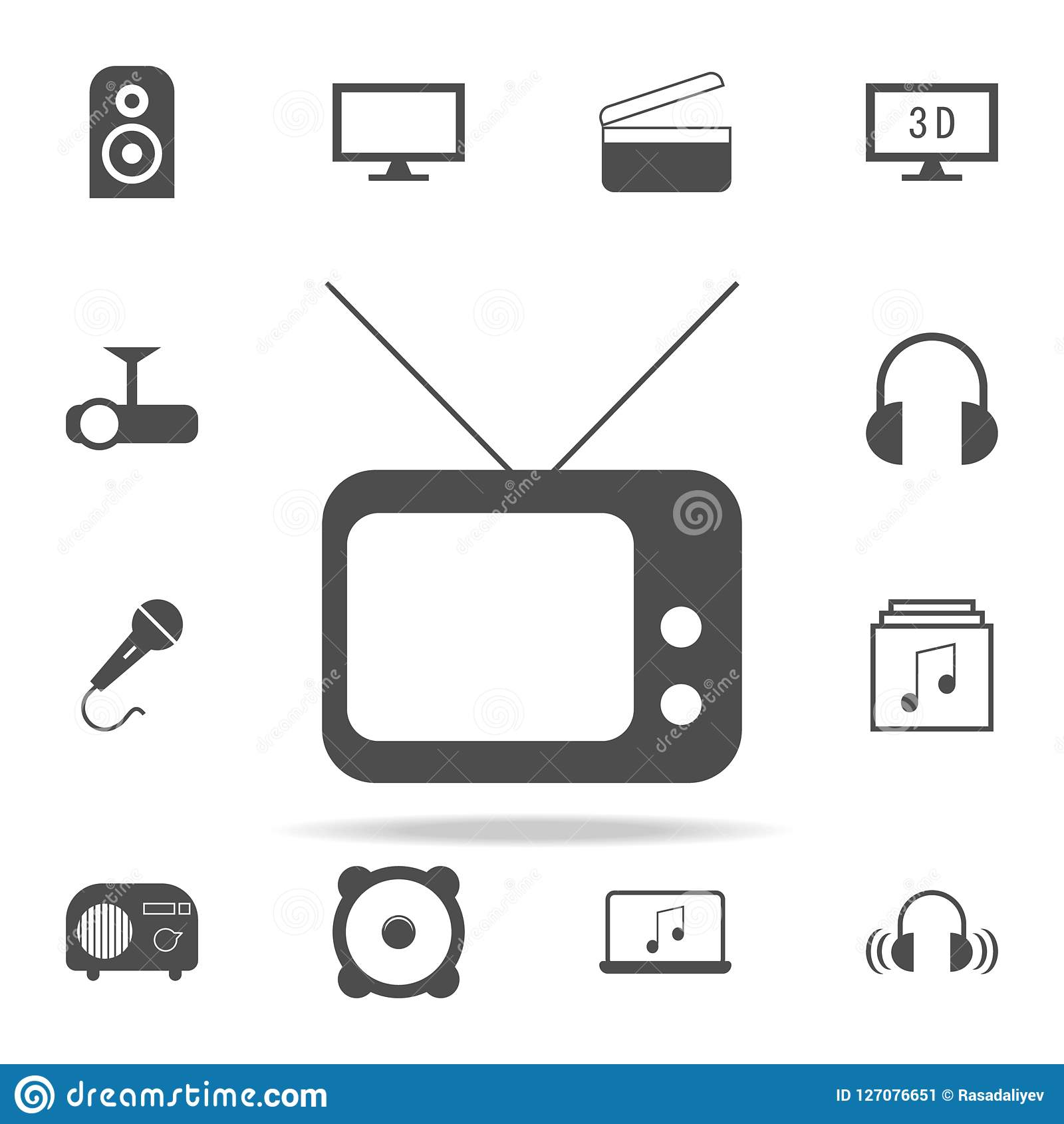 old TV icon. web icons universal set for web and mobile