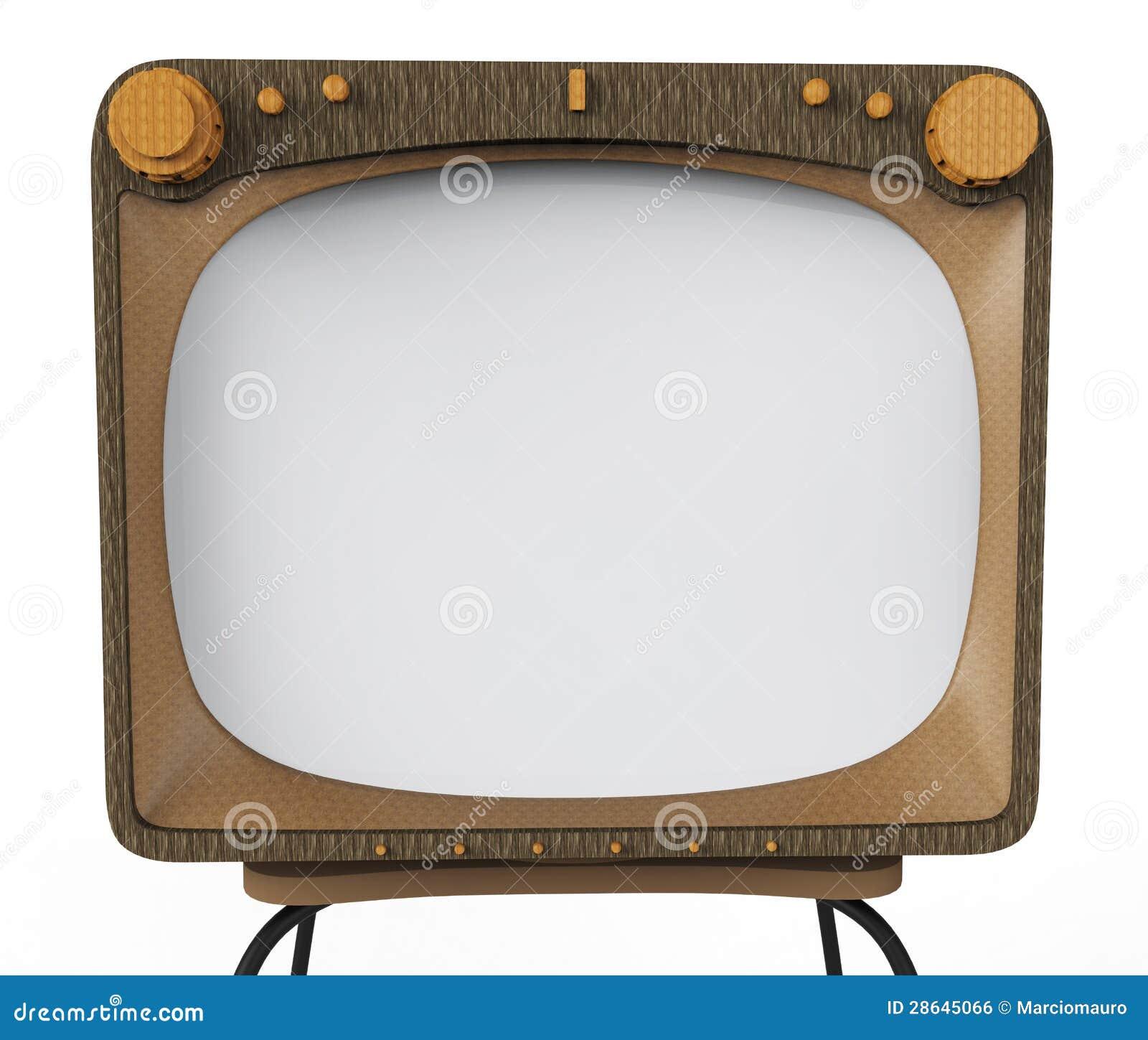 old tv set for advertising stock illustration image of. Black Bedroom Furniture Sets. Home Design Ideas