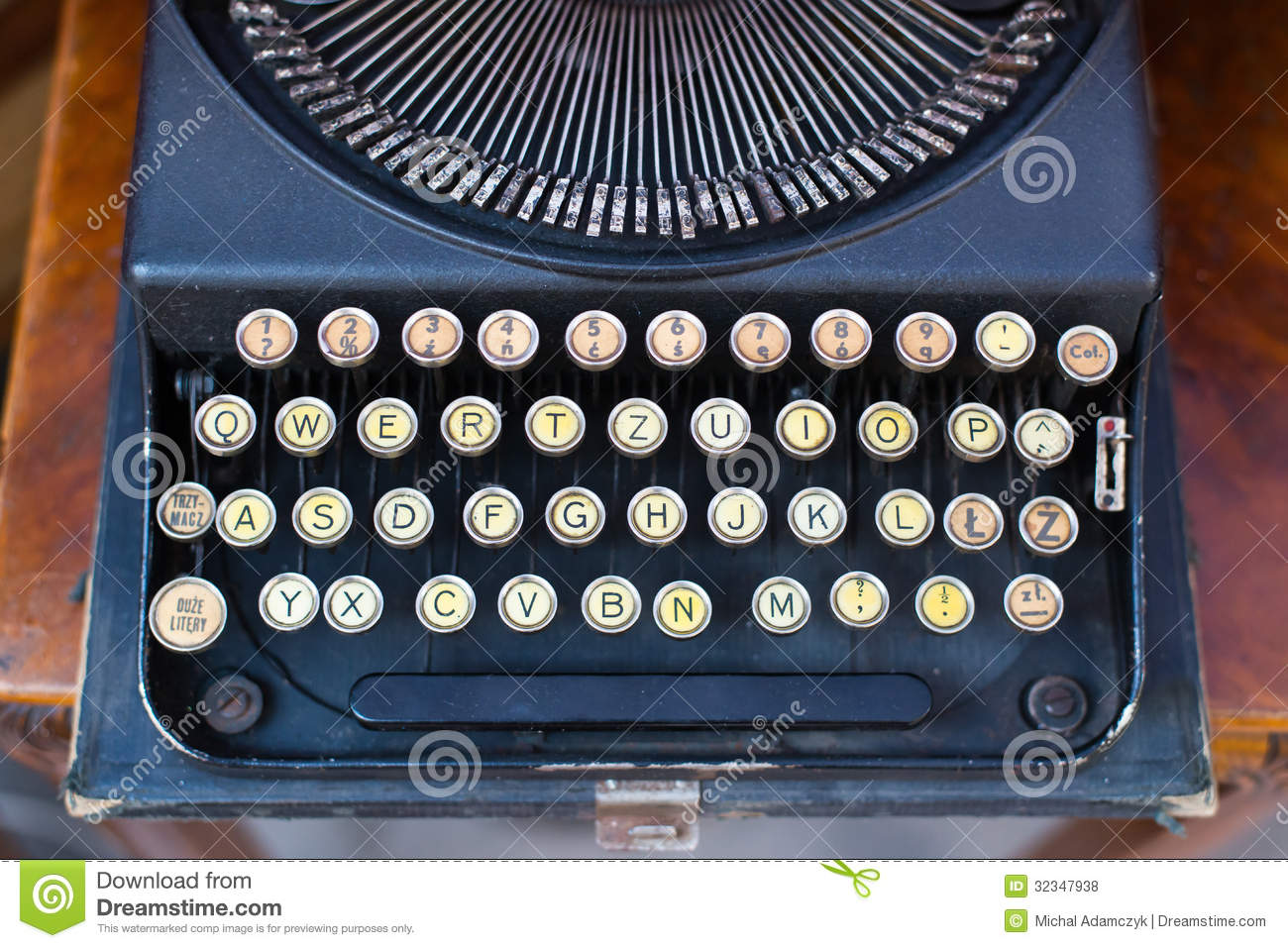 old type machine stock photo image of letter mechanical 32347938