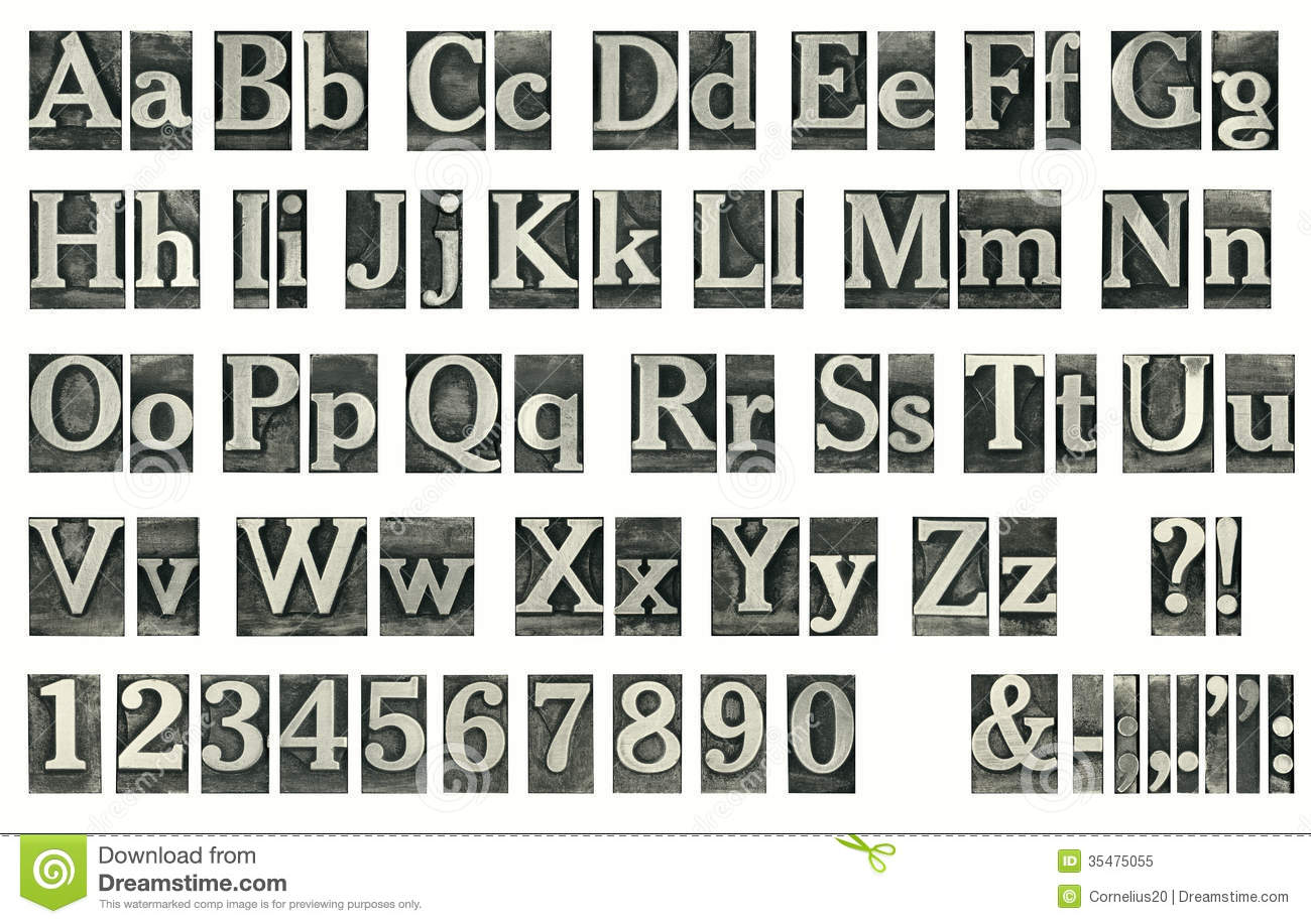 Word Font Block Letters