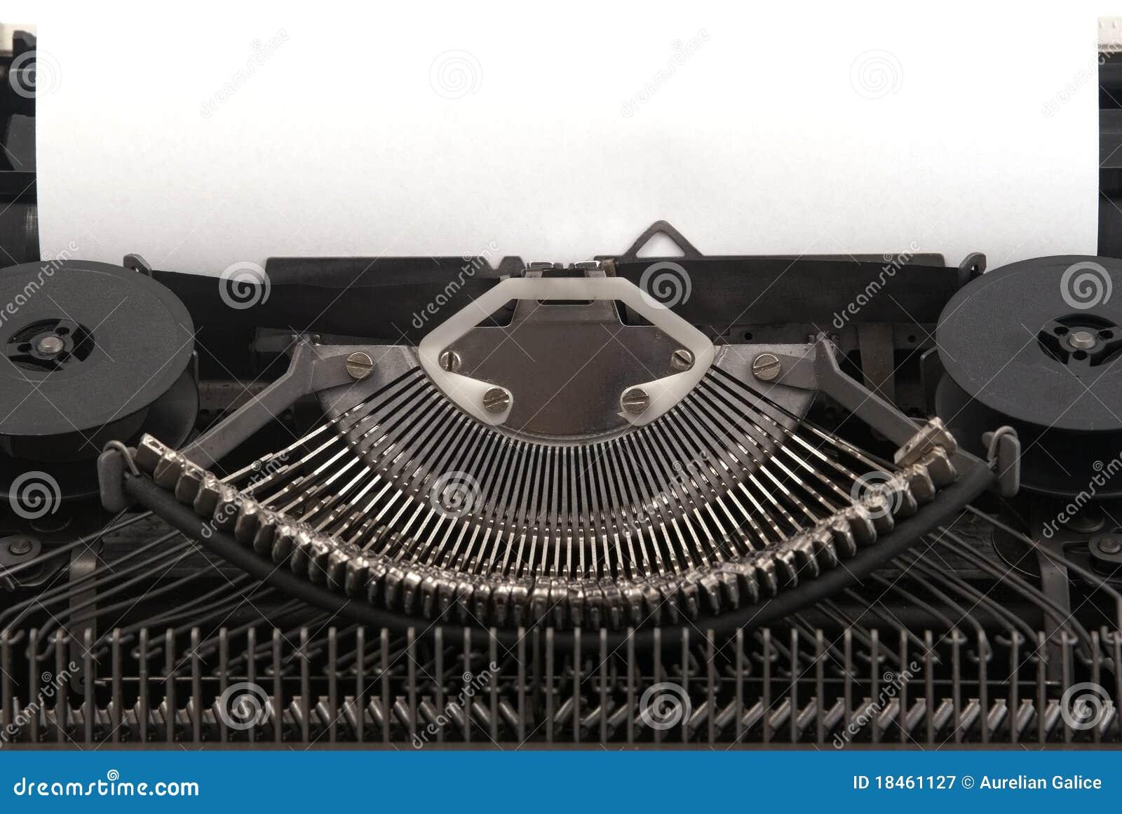 Old Typewriter with blank  Vintage Typewriter Paper Photography