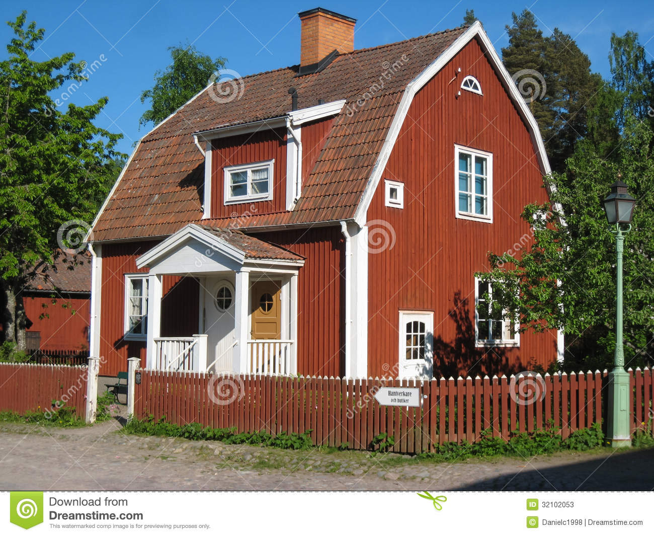 old typical swedish red house linkoping sweden stock photos image 32102053. Black Bedroom Furniture Sets. Home Design Ideas