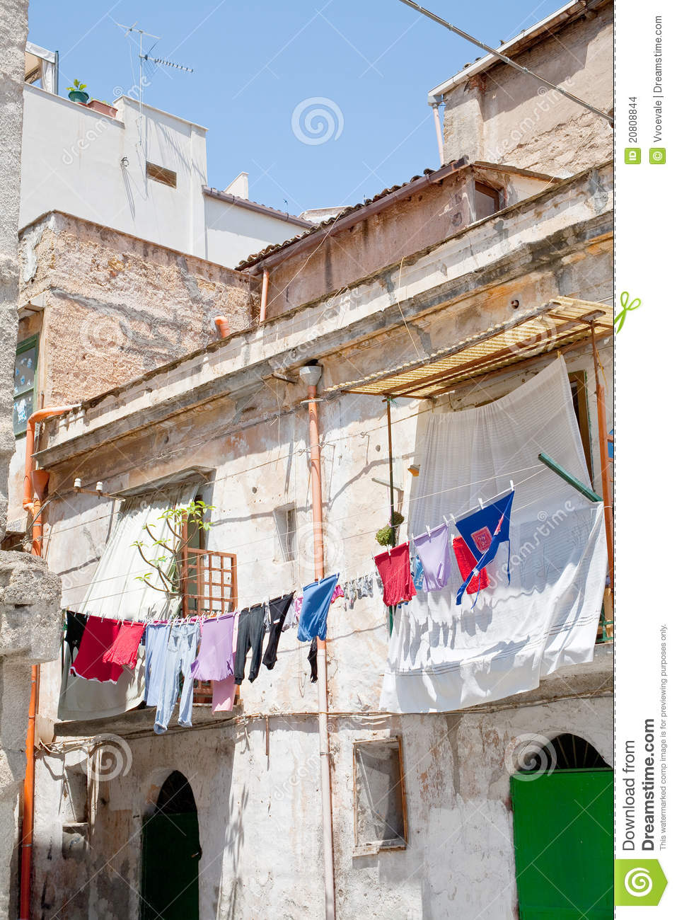 Old urban house in Palermo stock photo. Image of mansion ...