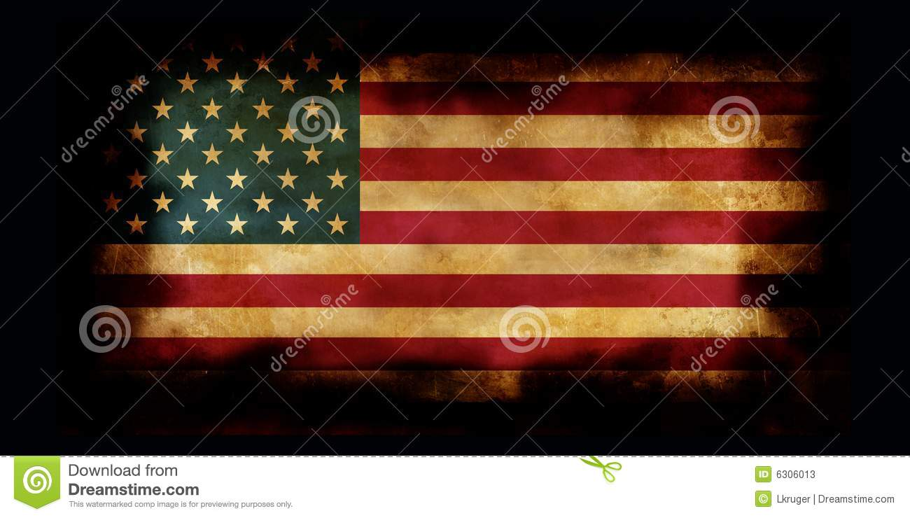 Old Usa Flag With Burned Edges Stock Photos Image 6306013