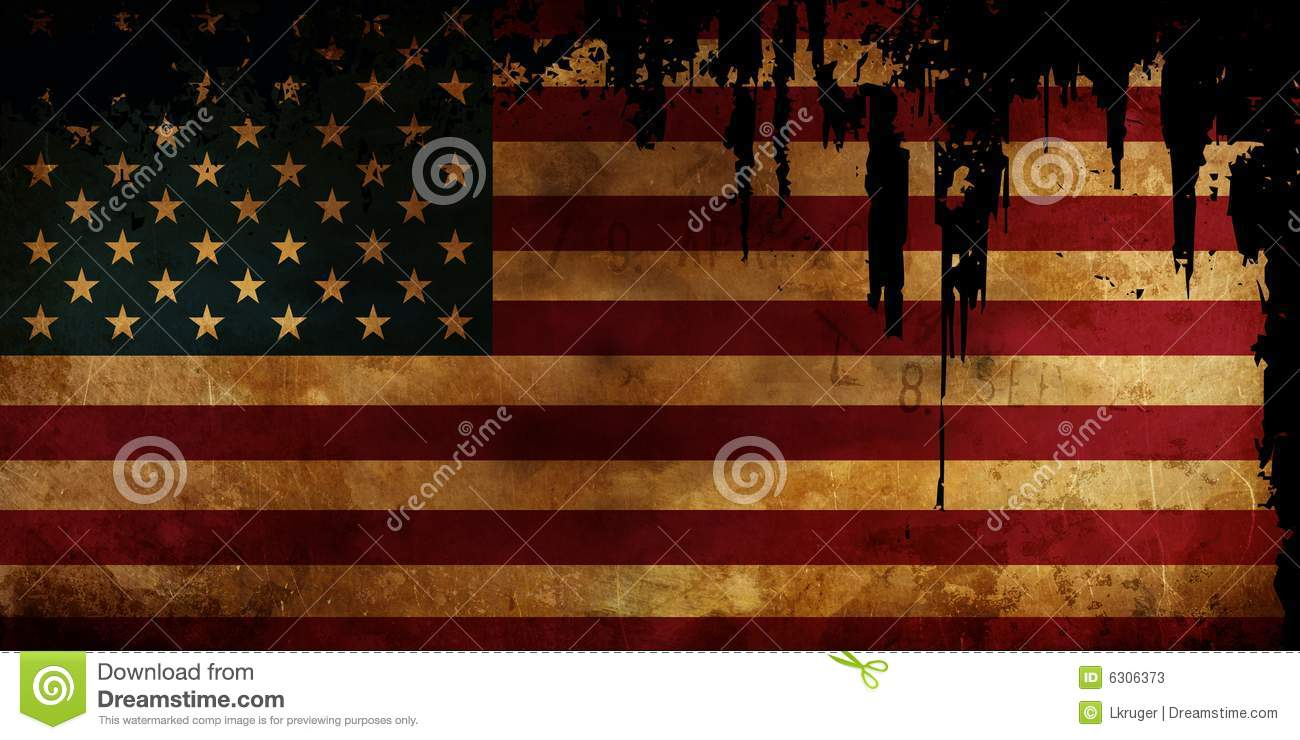 Old USA Flag disstressed