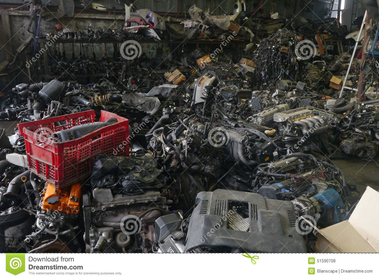 Locomotive Spare Parts : Old rusty car engine royalty free stock photography