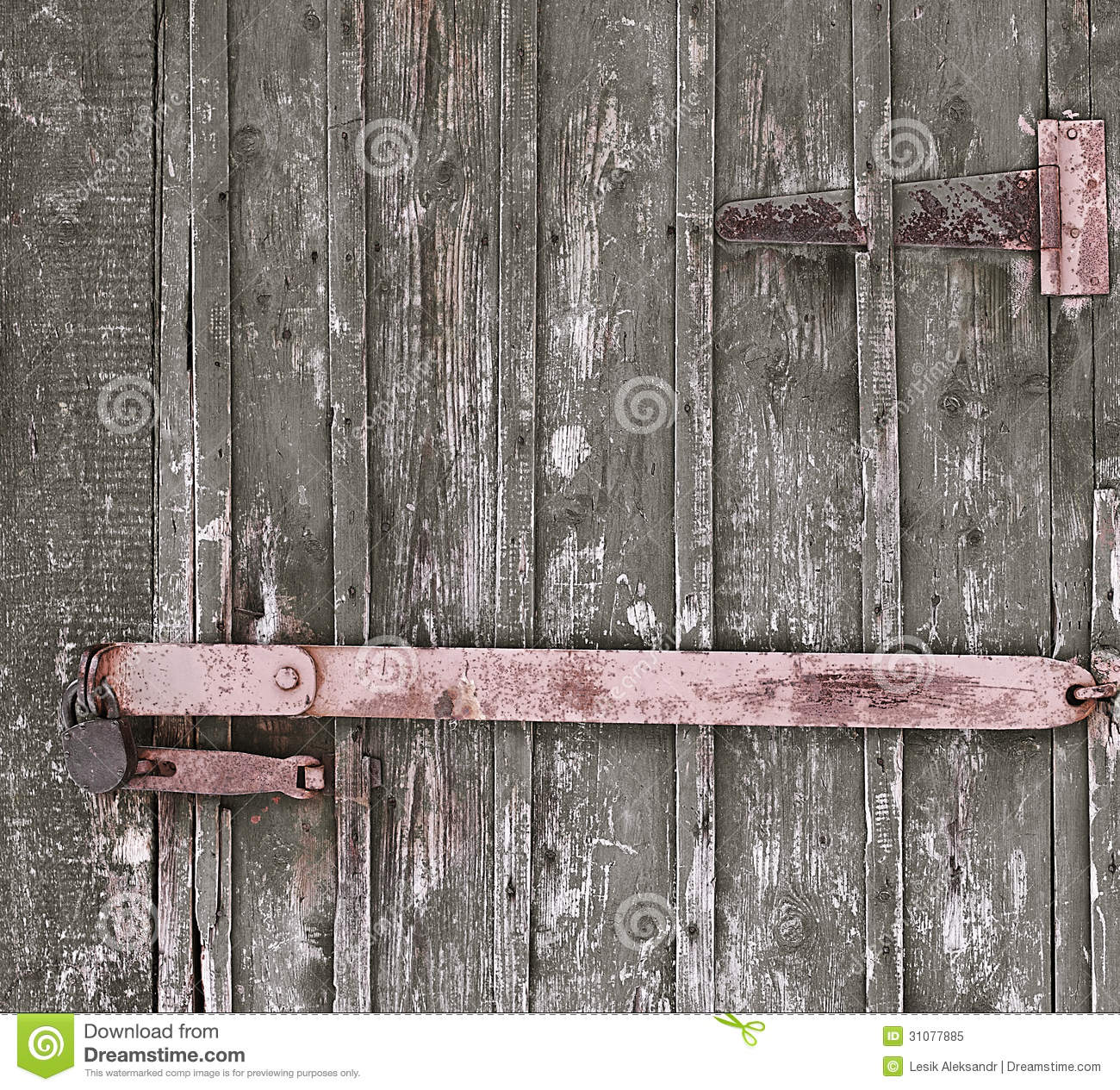 Old Used And Rusty Iron Door Lock Royalty Free Stock