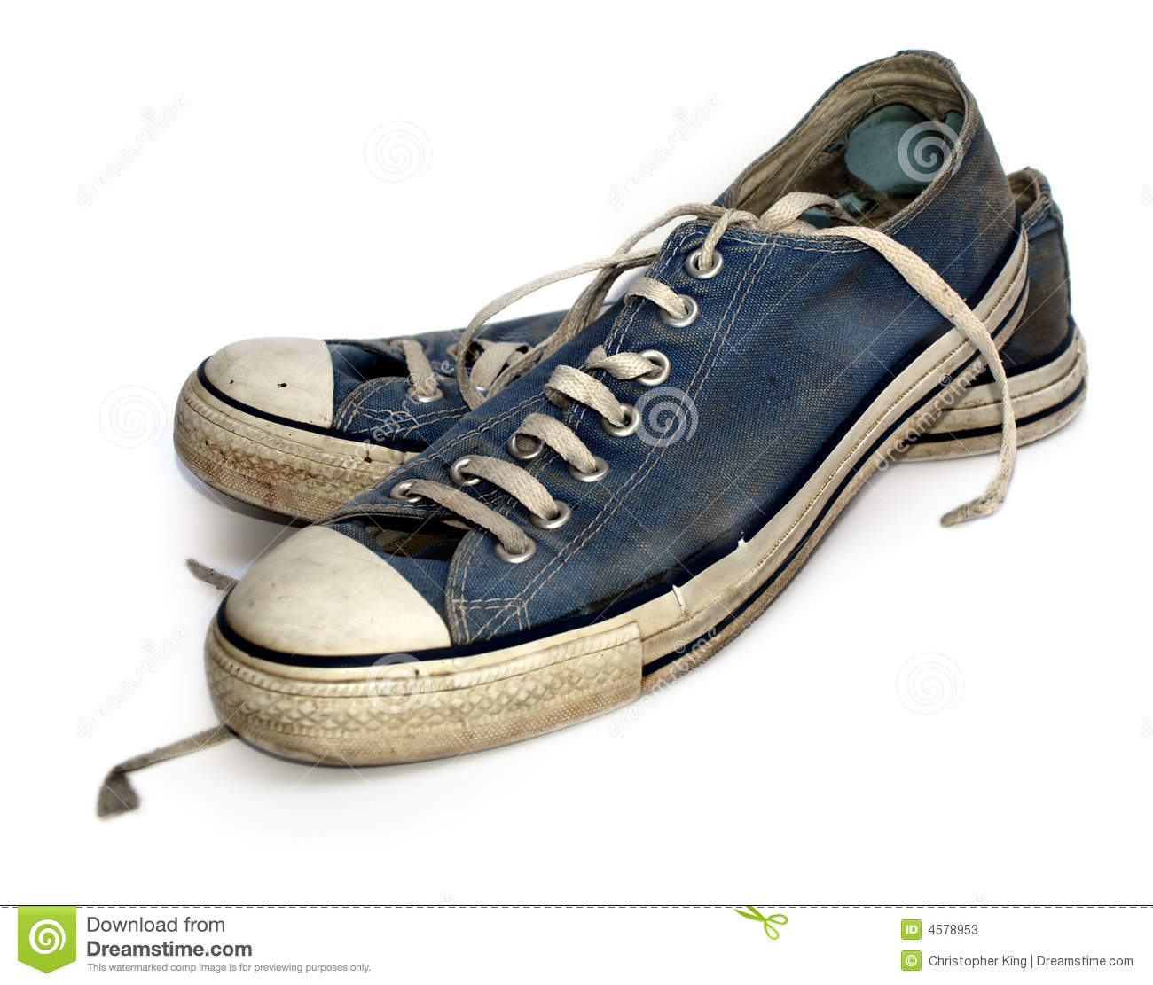 Old Used And Worn Out Sneakers Or Trainers Stock Photos - Image ...