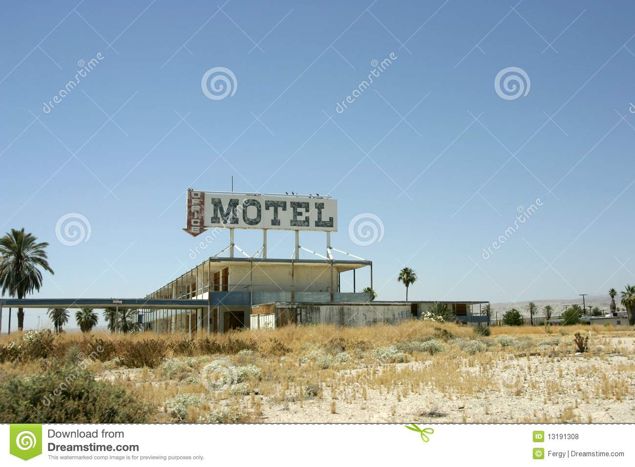 Old Vacant And Abandoned Motel Stock Photo - Image of hotel