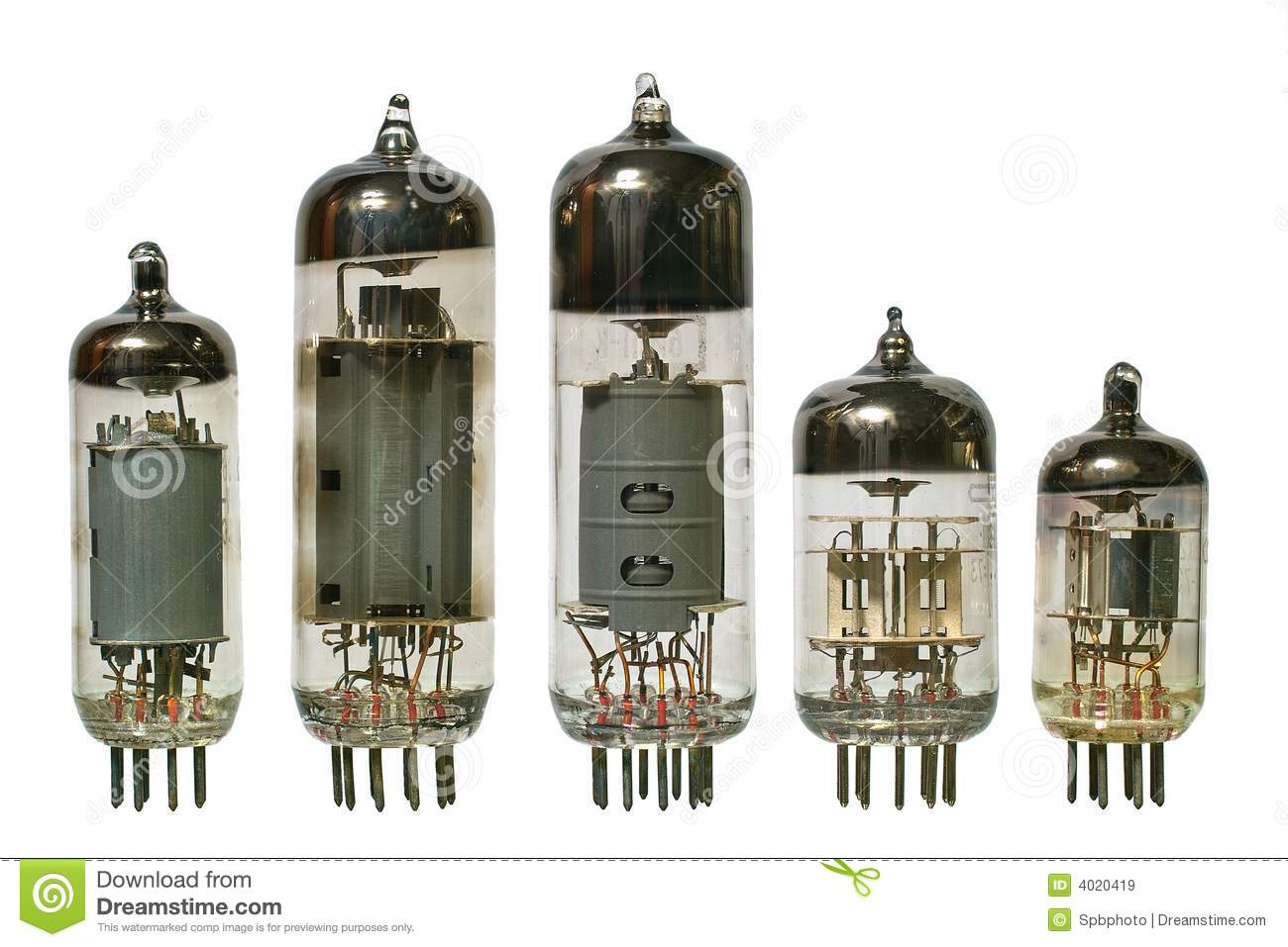 Royalty Free Stock Images Old Vacuum Radio Tubes Front View Image4020419 on vintage transistor radios