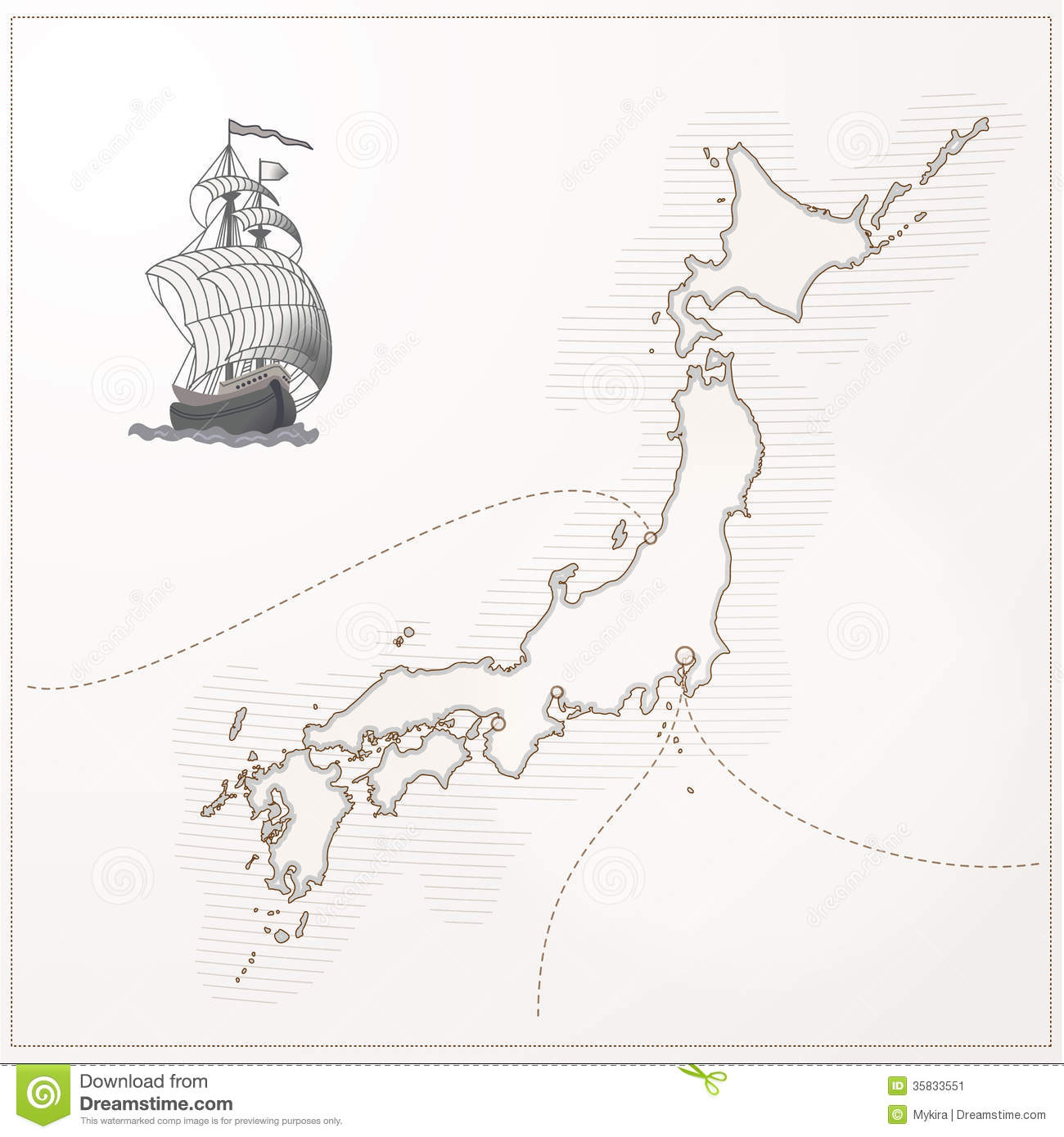 Old Vector Japan Map Stock Image Image - Japan map vector free download