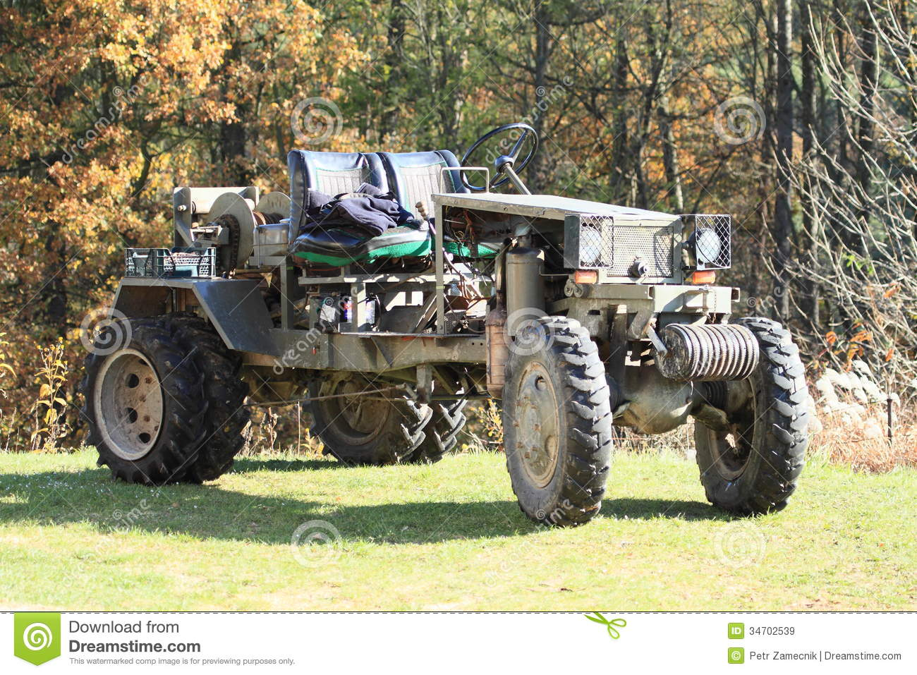 Old vehicle stock image. Image of field, wheal, forest - 34702539