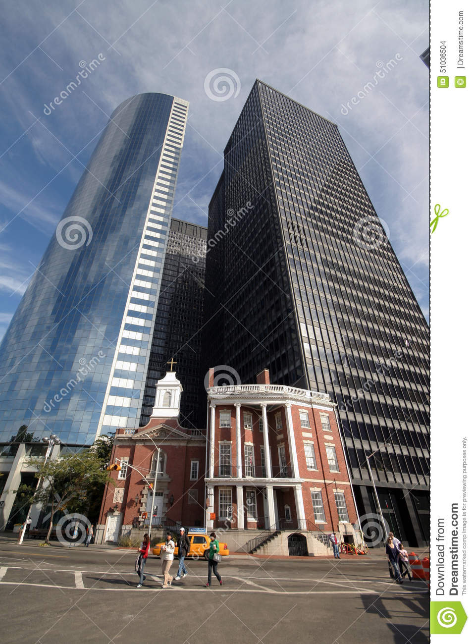 Old Versus Modern Architecture In New York Usa Editorial