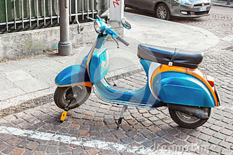 Old Vespa Scooter Editorial Image Image Of Italian Cute 83952030