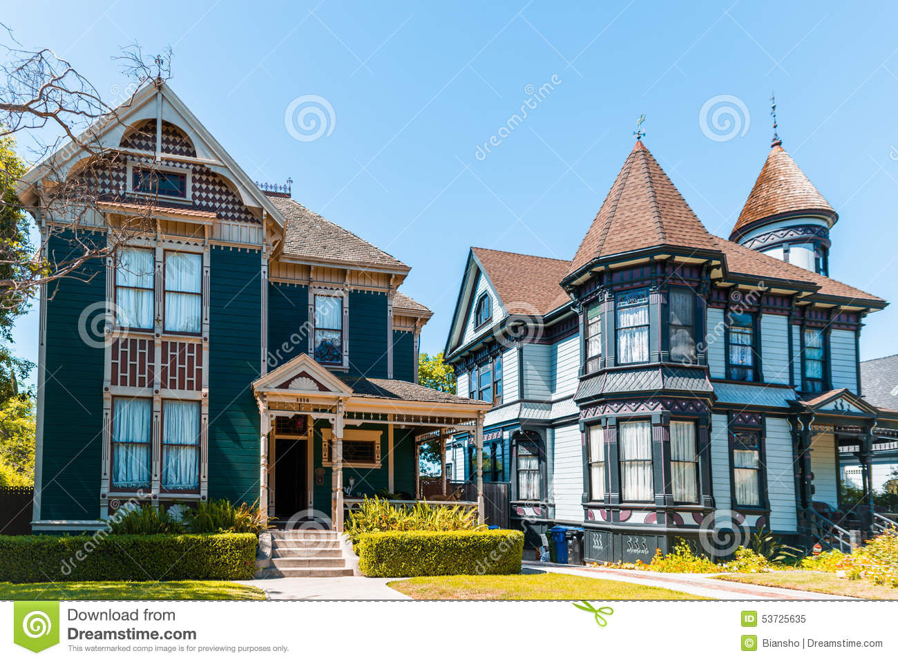 Old Victorian Houses Stock Photo Image 53725635