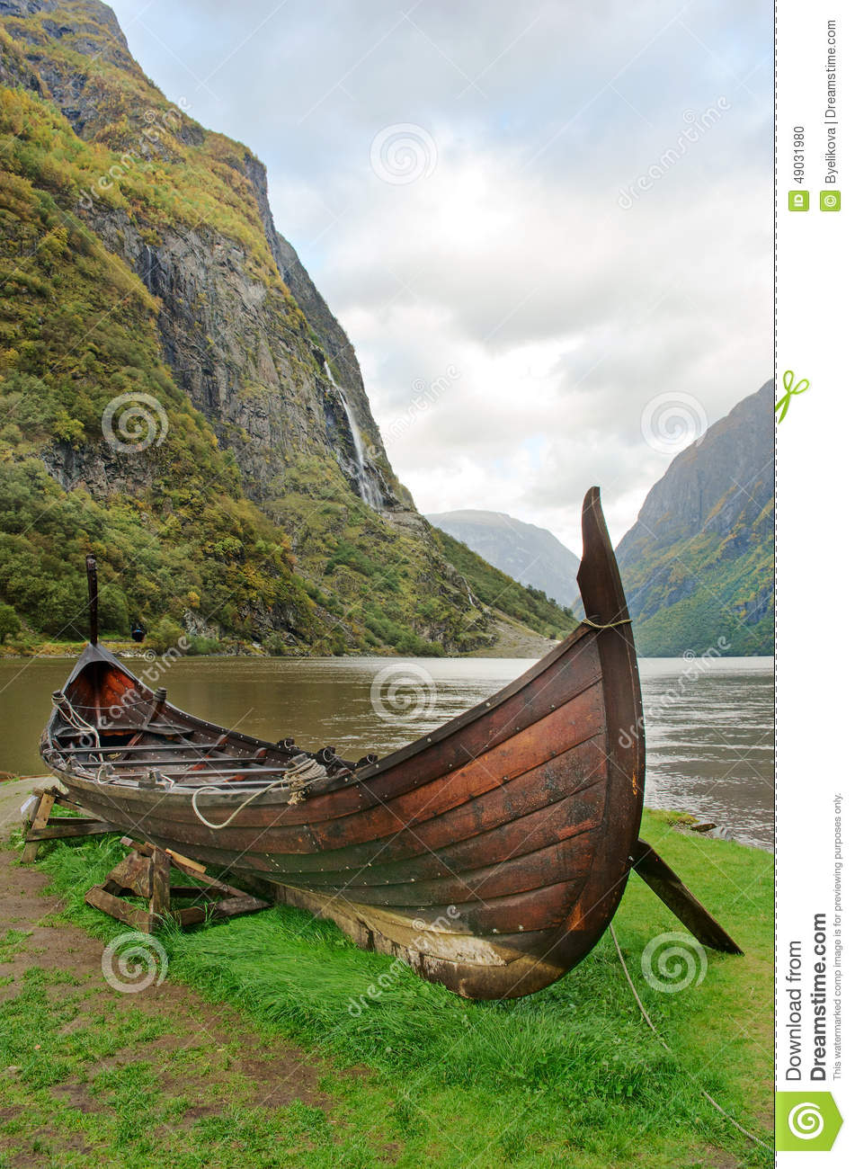 Old Viking Boat In Norway Stock Photo - Image: 49031980