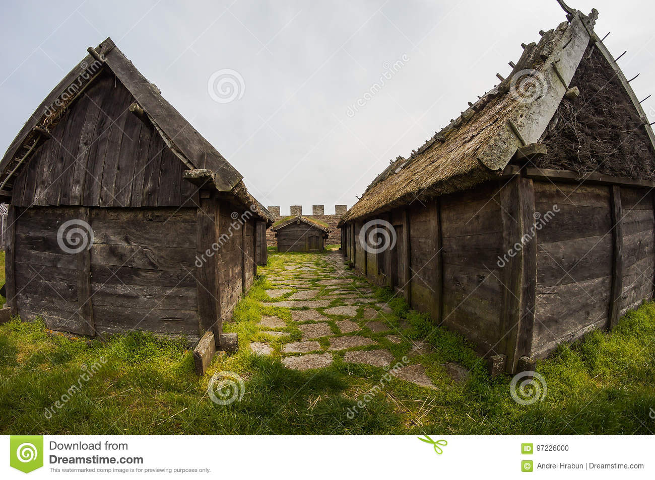 Download An Old Viking House, A Small Wooden Hut Stock Photo   Image Of Wood