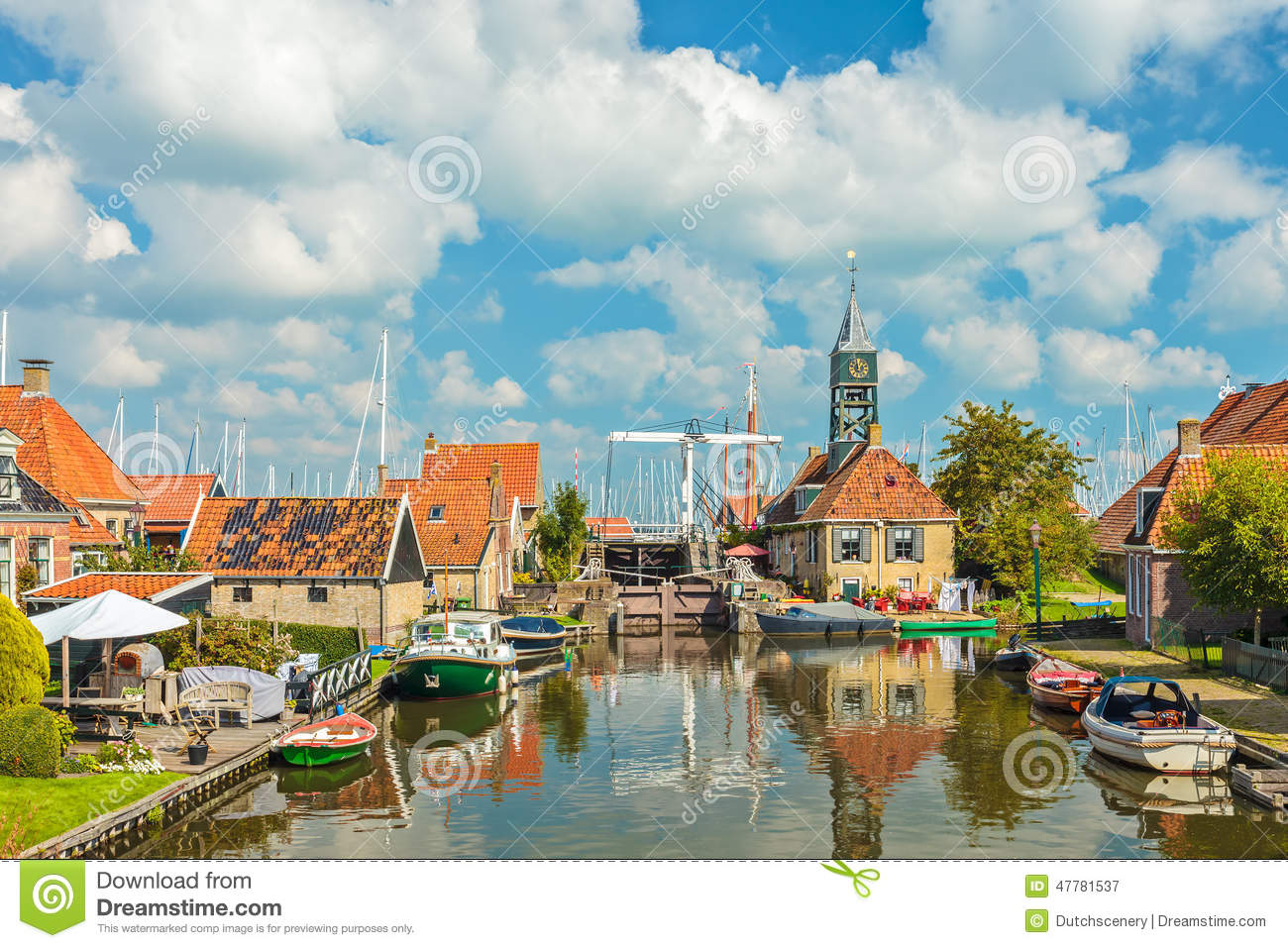 Stock Photo Old Village Hindeloopen Netherlands Summer View Friesland Image47781537 on Small Dutch House Plans