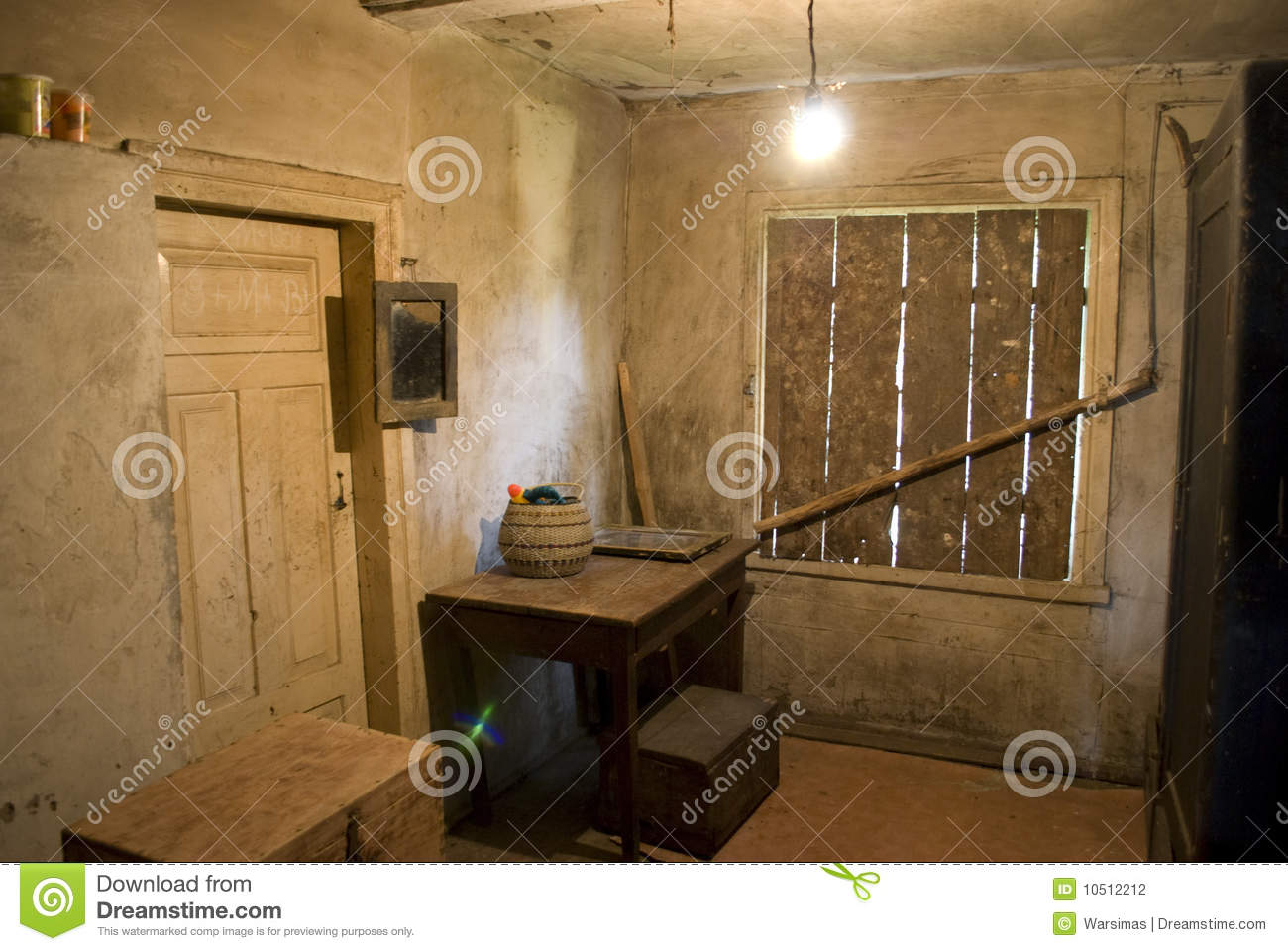 Old Village House Interior Stock Photography Image 10512212