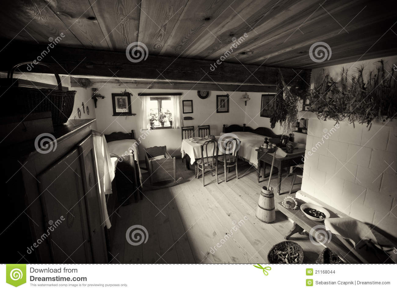Old Village House In Poland Stock Photo - Image of wooden ...