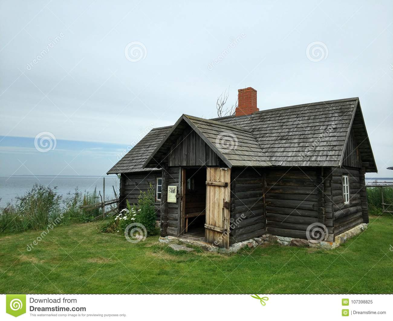 Old village house by the sea