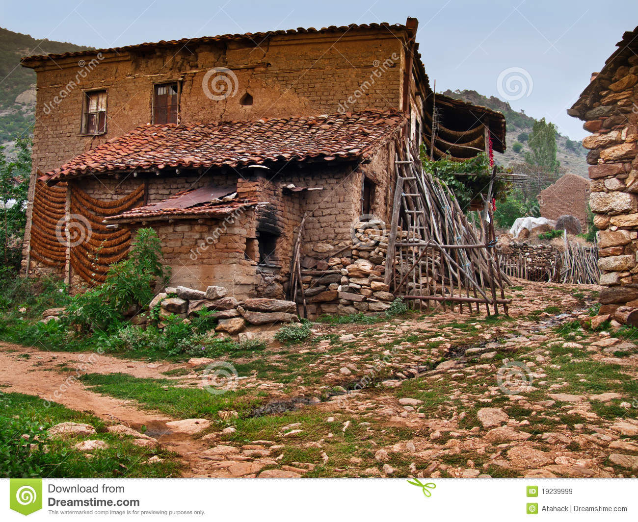 Old Village Mediterranean House Royalty Free Stock Images