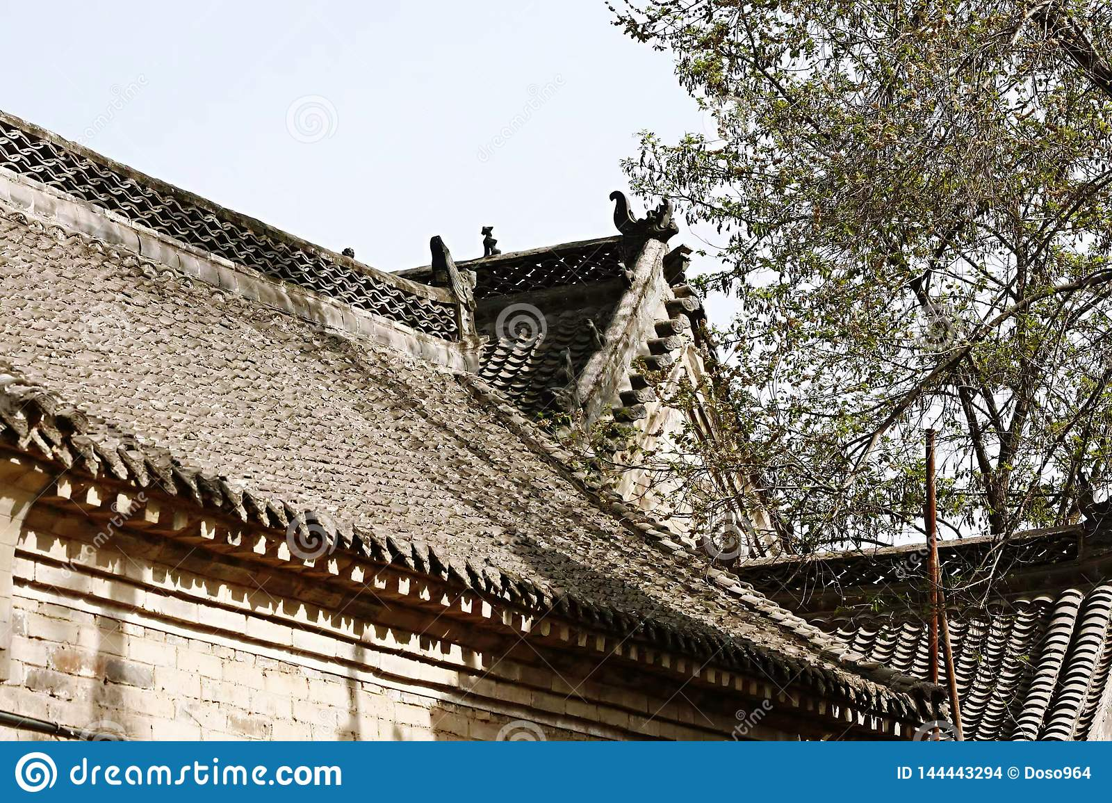 Old village roofs