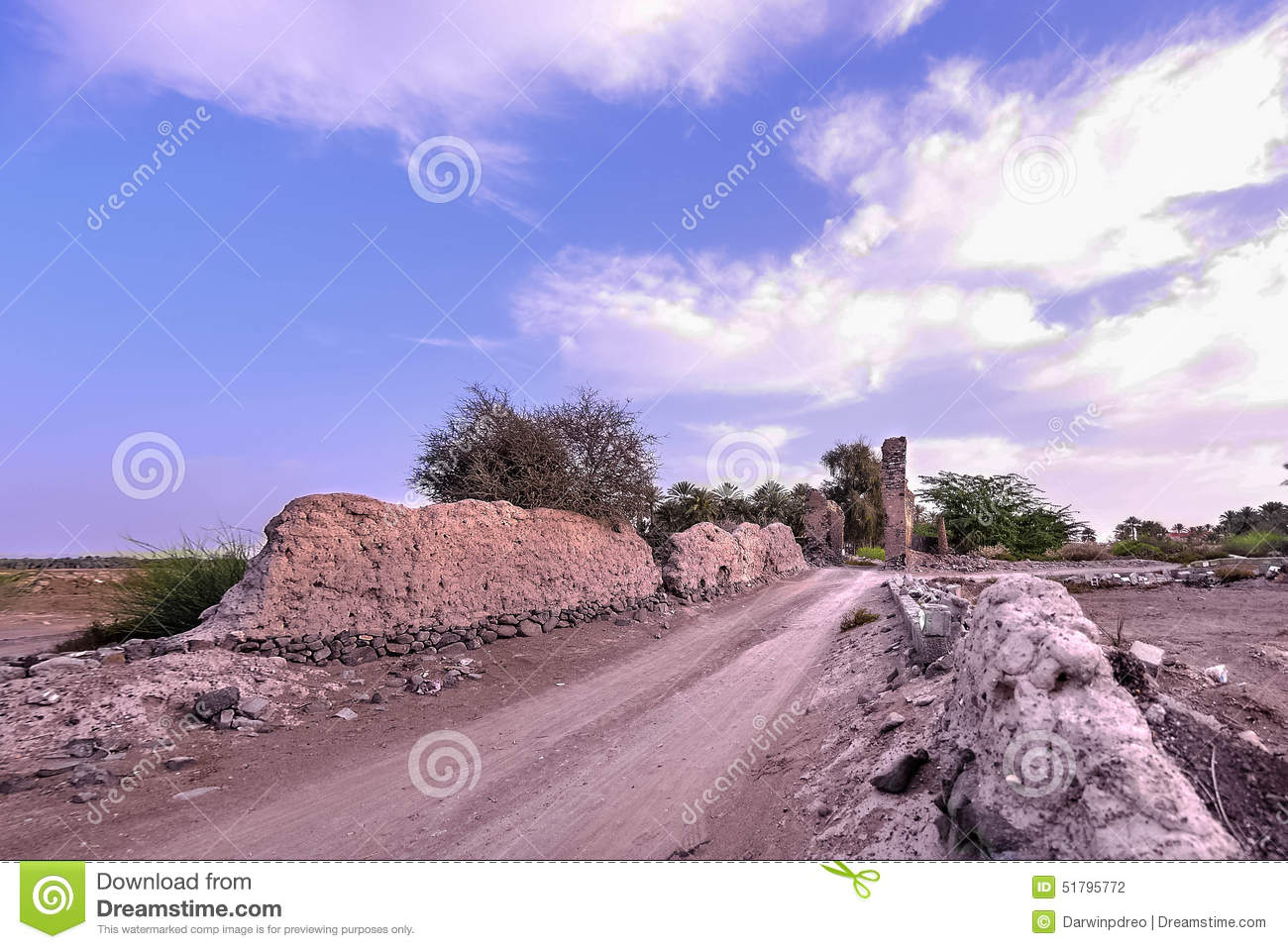 Ibra Oman  city images : Old Village Ruins In Ibra Oman Stock Photo Image: 51795772