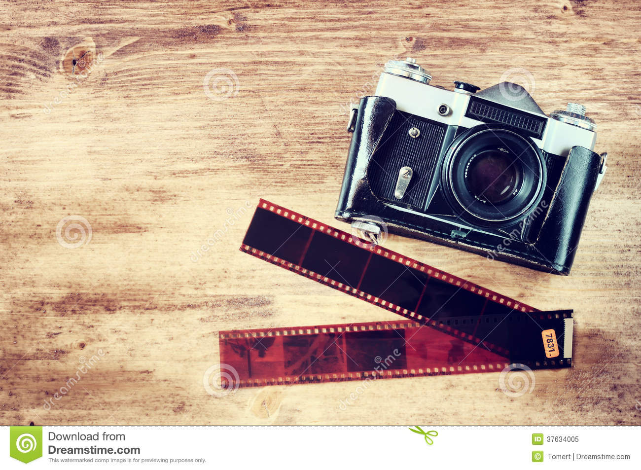 Old vintage camera and film Vintage Camera Backgrounds