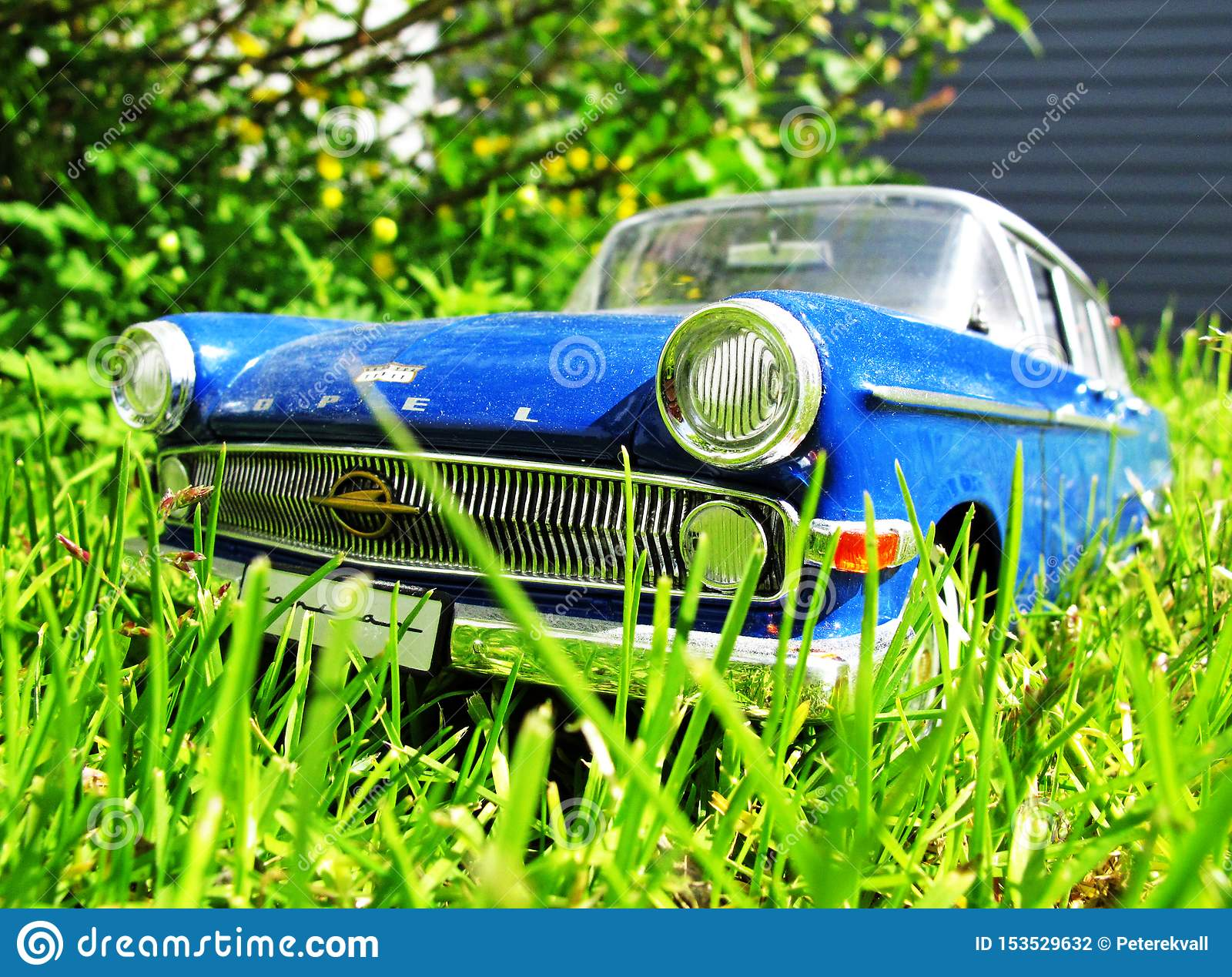 Old vintage car in high grass