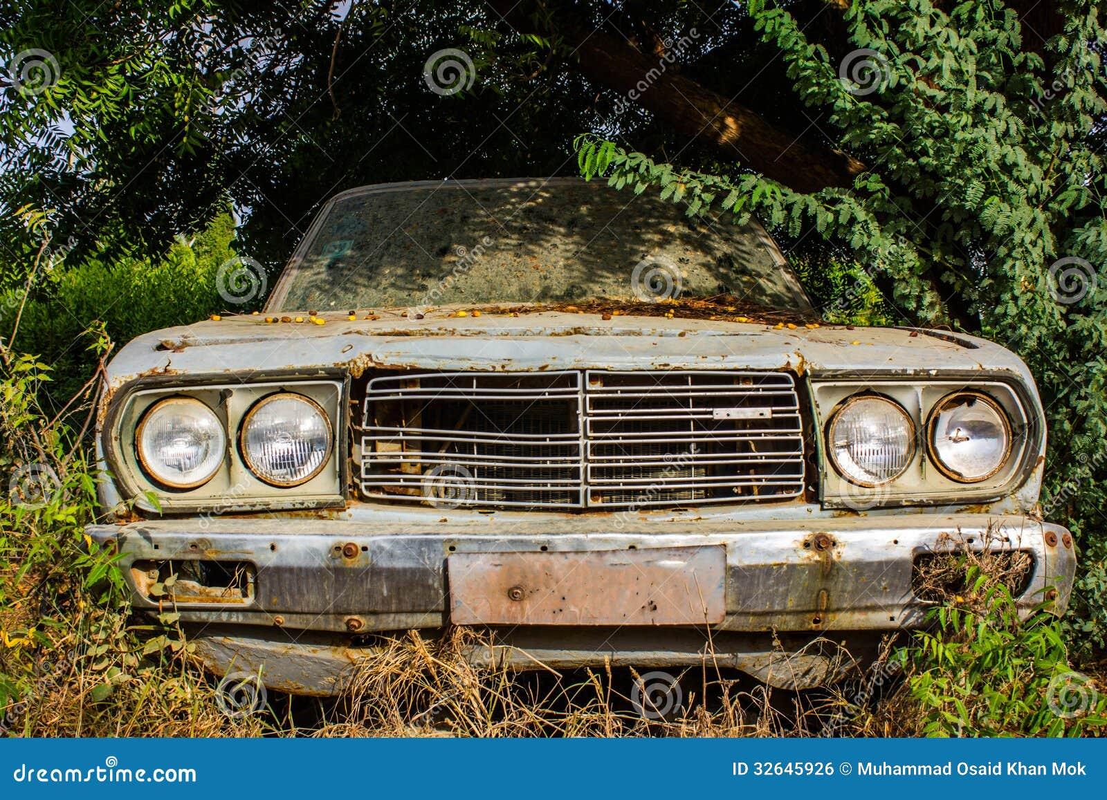 Old vintage car stock photo. Image of bonnet, broken - 32645926