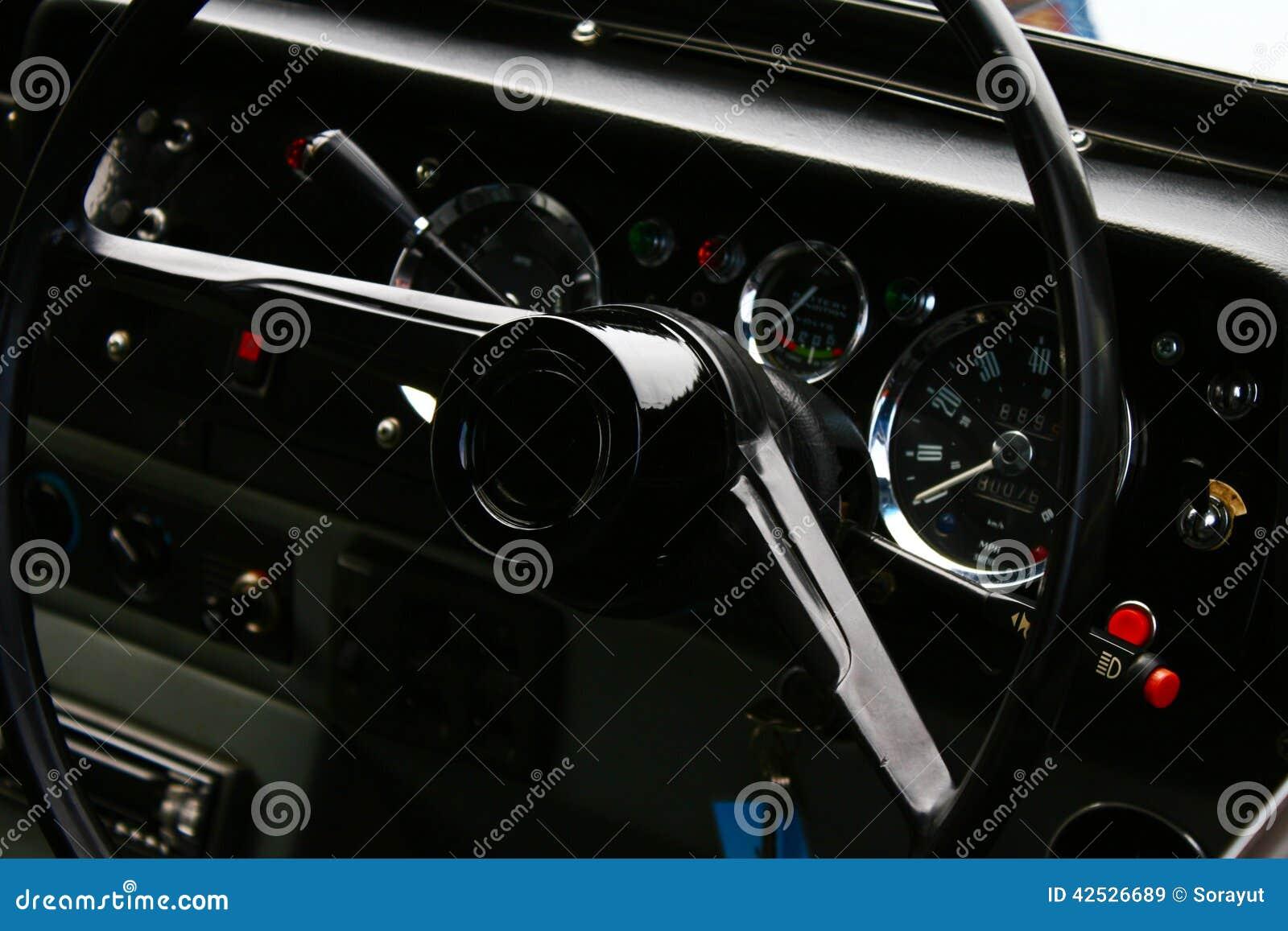 Old Vintage Car Stock Image Image Of Interior Bygone 42526689