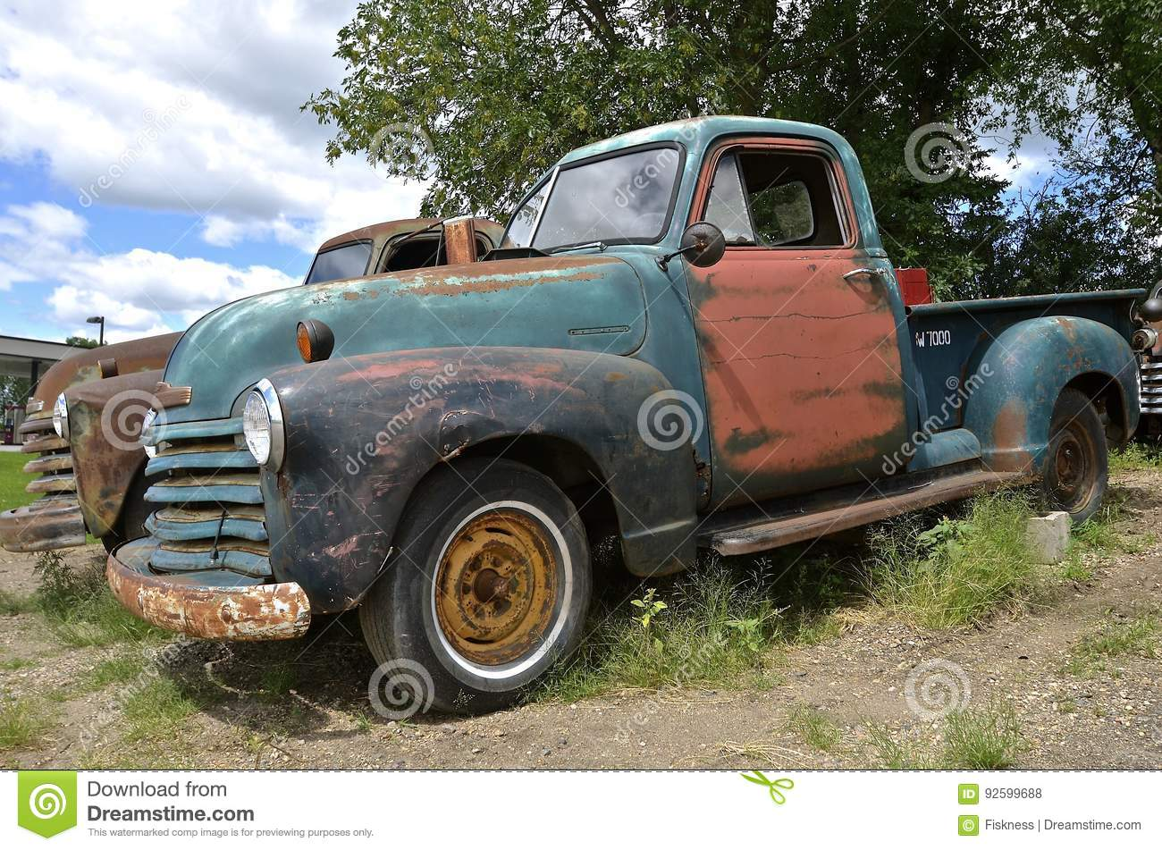 Old vintage Chevy pickup editorial stock photo. Image of open - 92599688