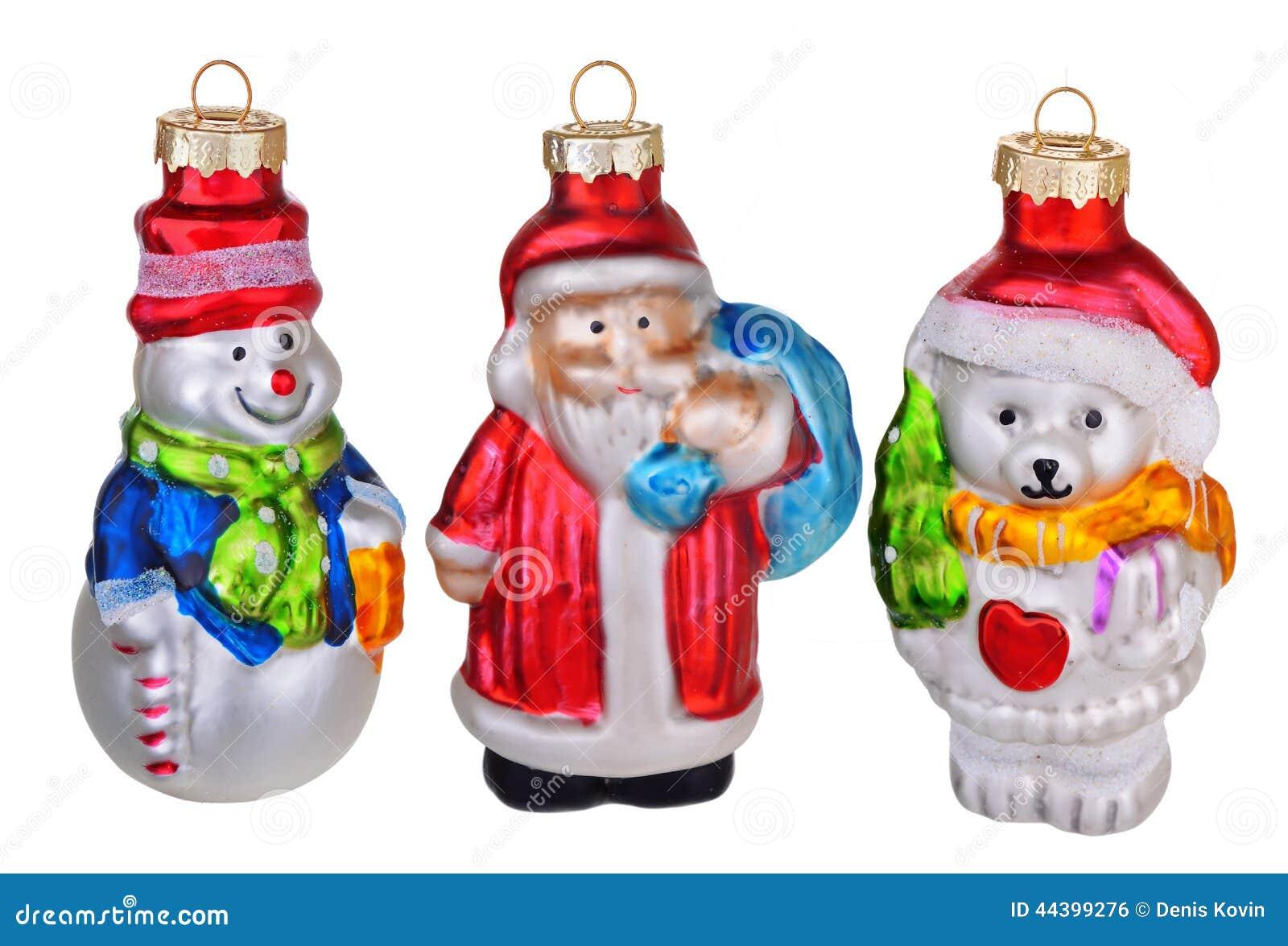 Retro Christmas Toy : Old vintage christmas toys stock photo image