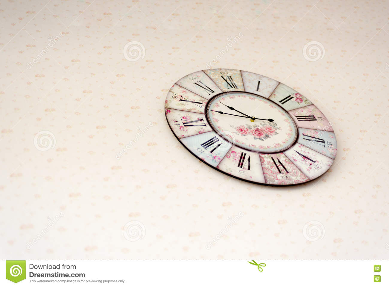 Old Vintage Clock Hang On Wall Stock Photo Image Of Metal Time