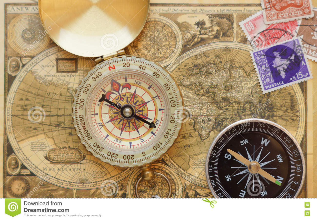 Old vintage compass on ancient map stock image image of metal download old vintage compass on ancient map stock image image of metal magnetic gumiabroncs Gallery